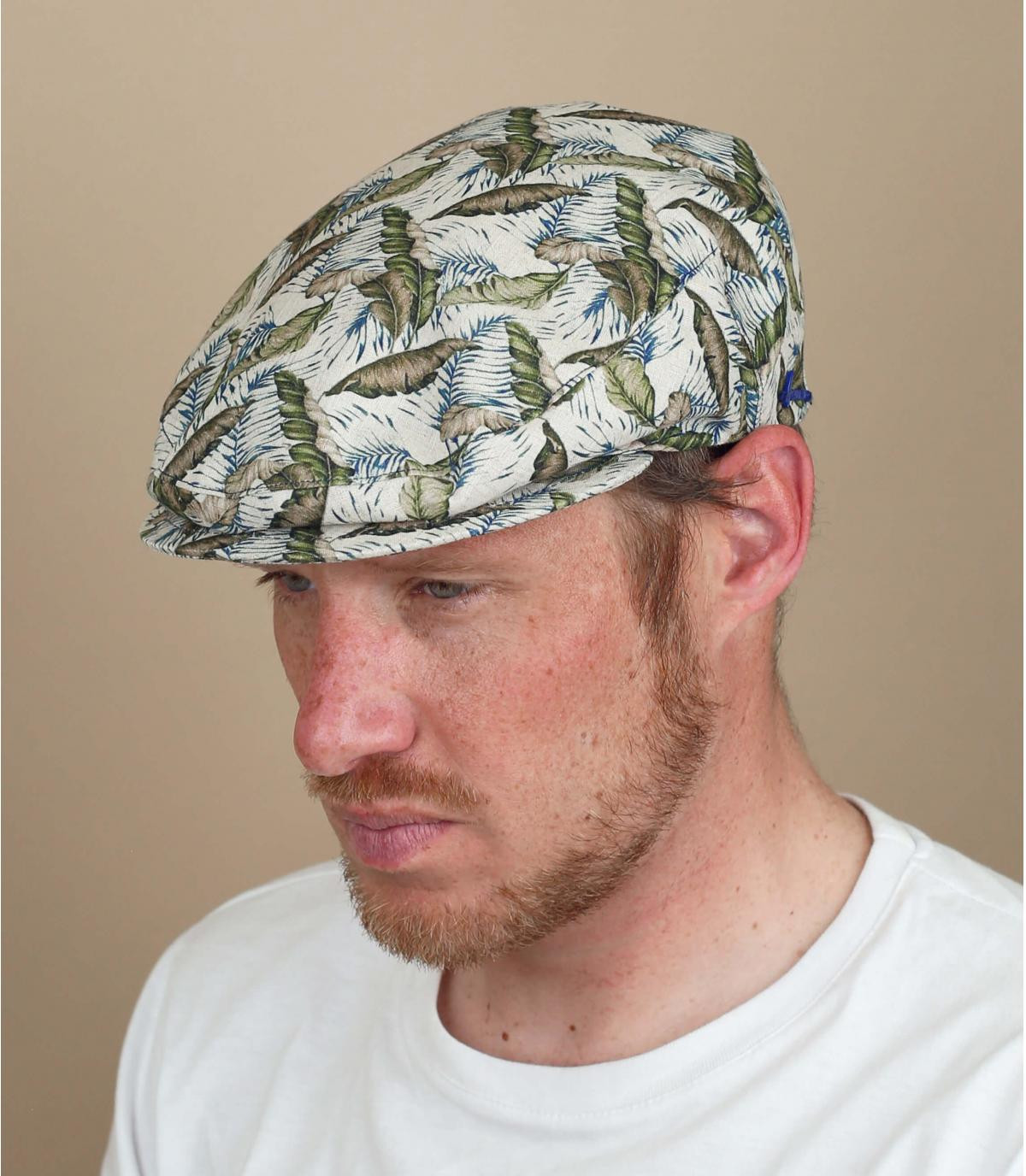 gorra lino estampado
