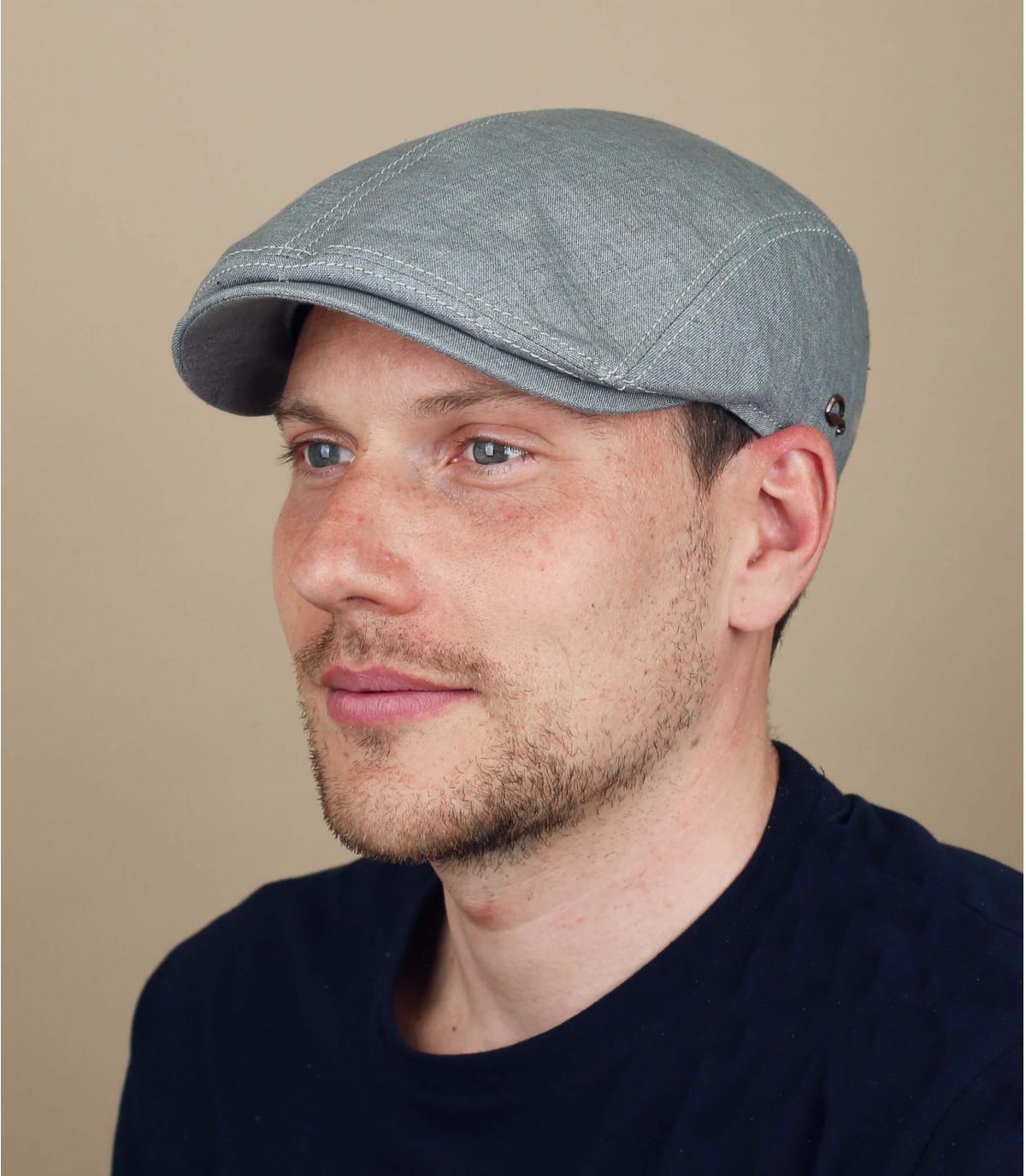 gorra lino gris Göttmann