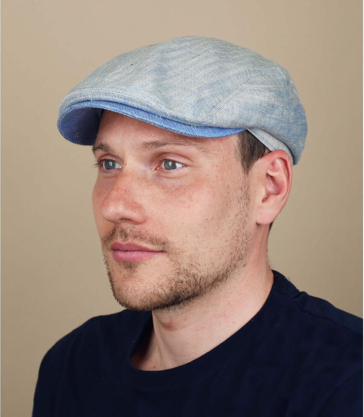 gorra lino azul Göttmann