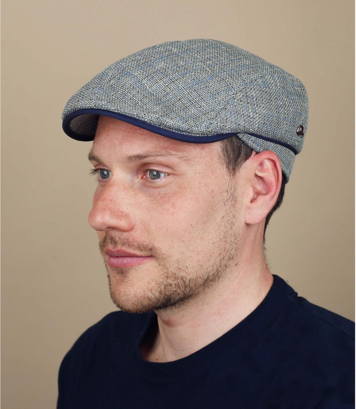 gorra lino gris