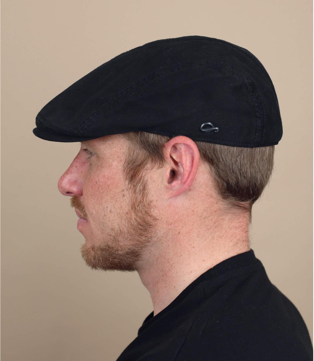 gorra algodón negro Göttmann