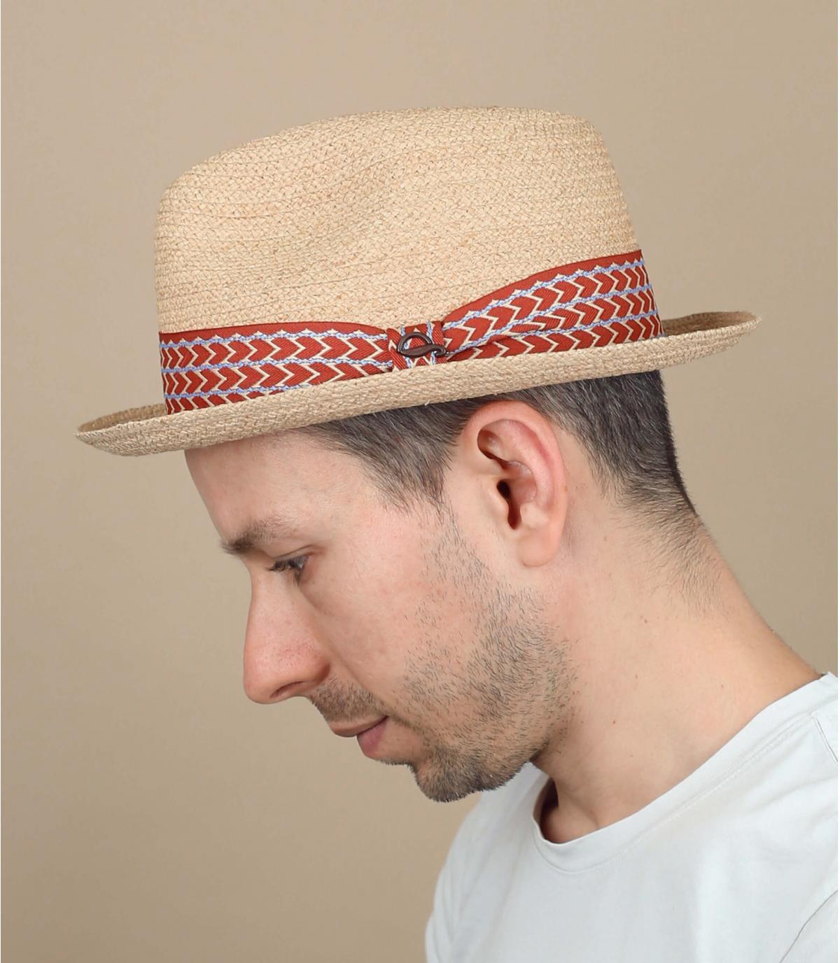 sombrero paja cinta espigas
