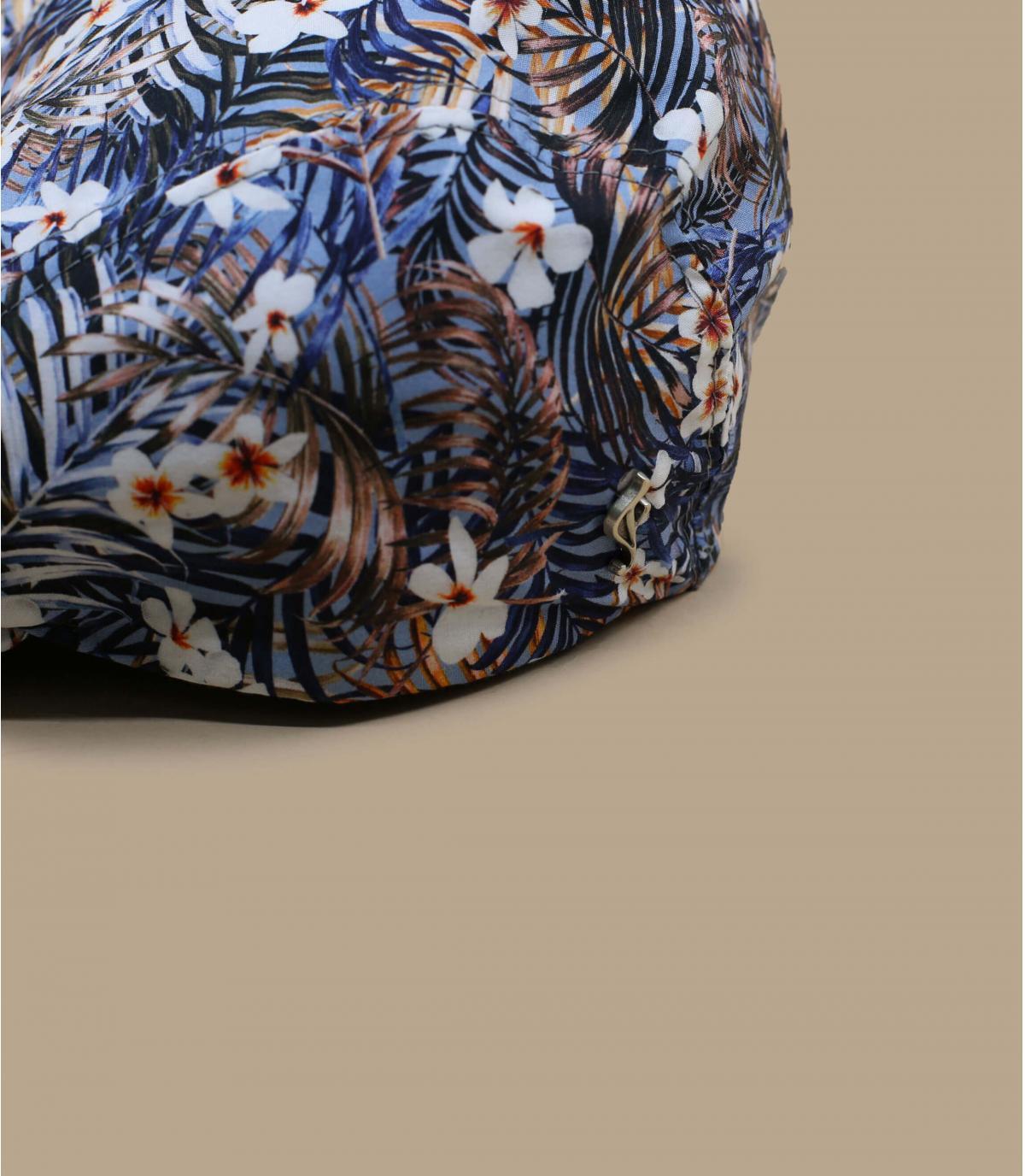 Gorra flores azul