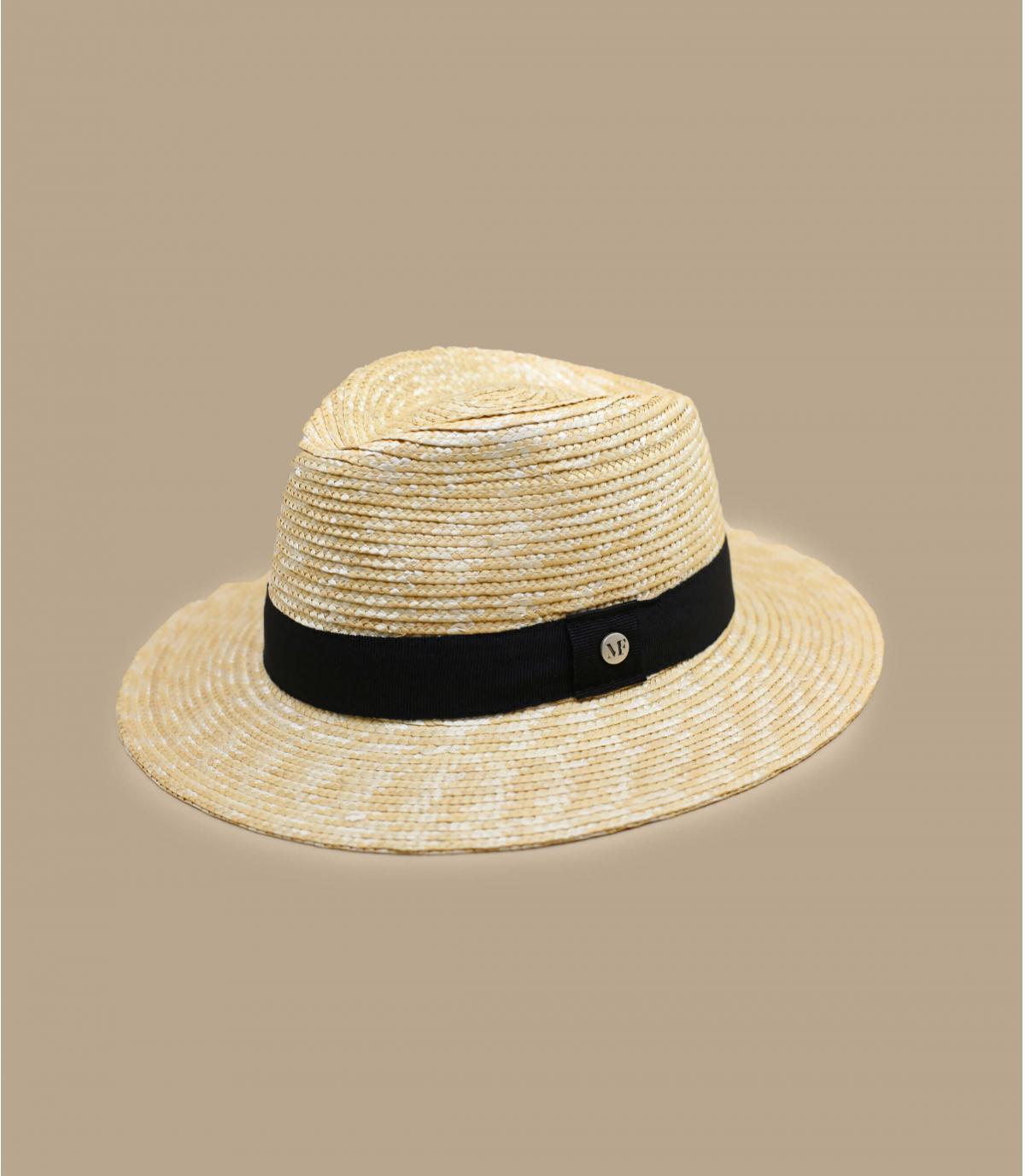 sombrero paja cinta negra