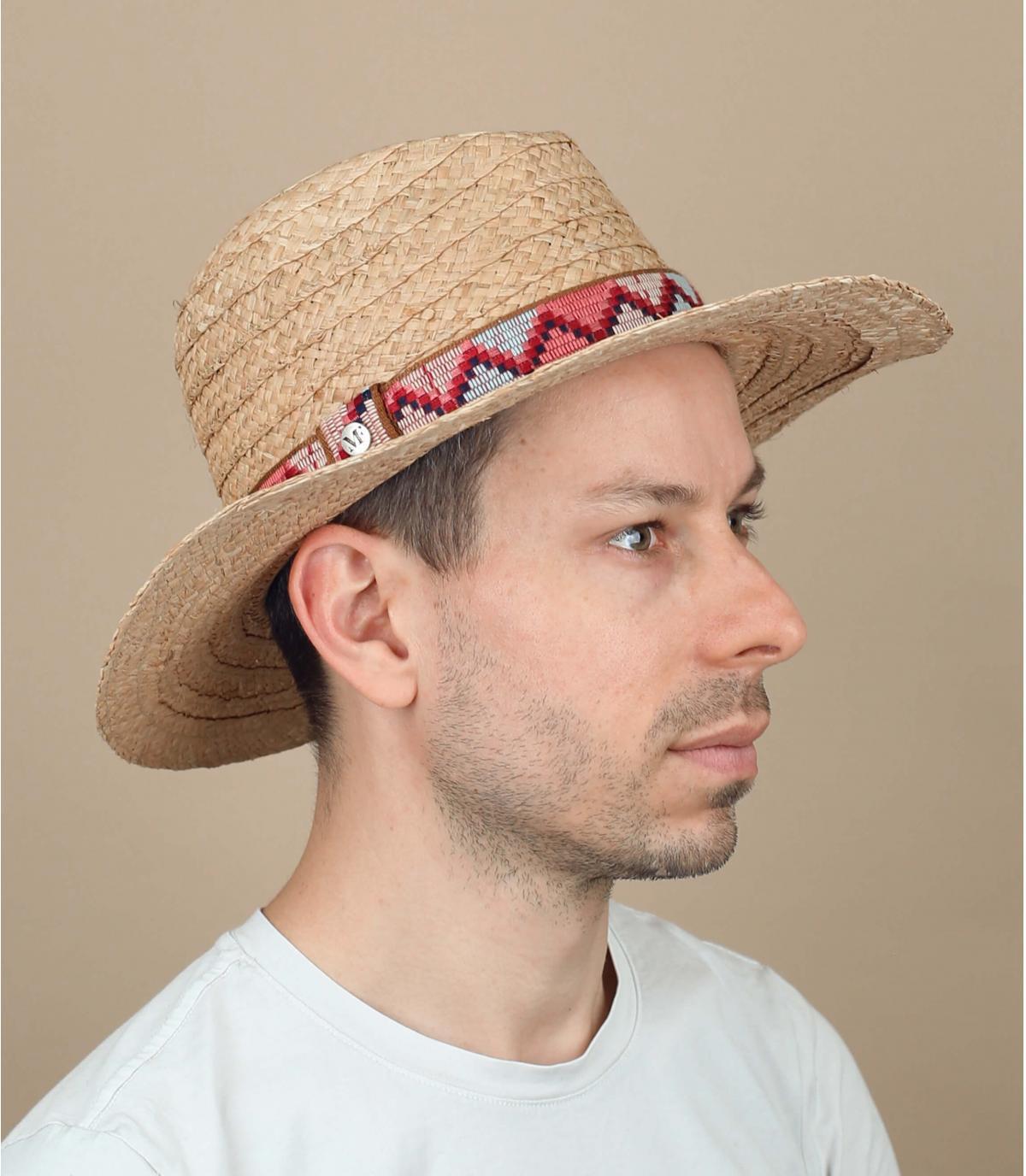 sombrero paja cinta estampado