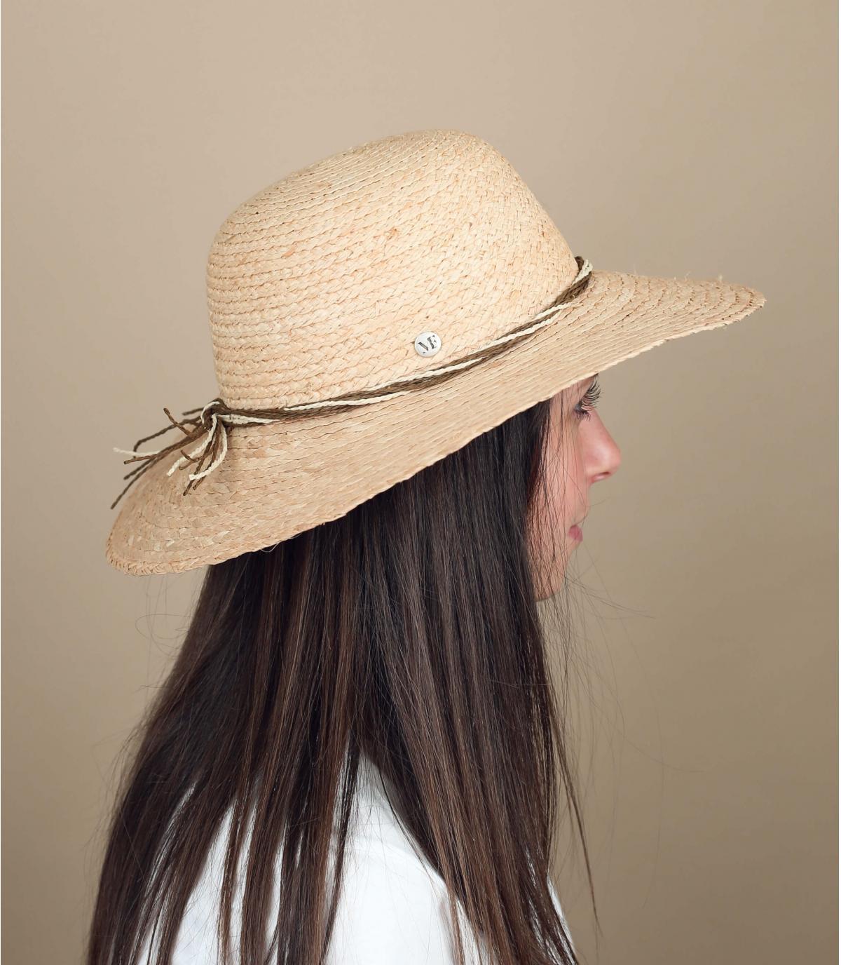 sombrero paja plegable