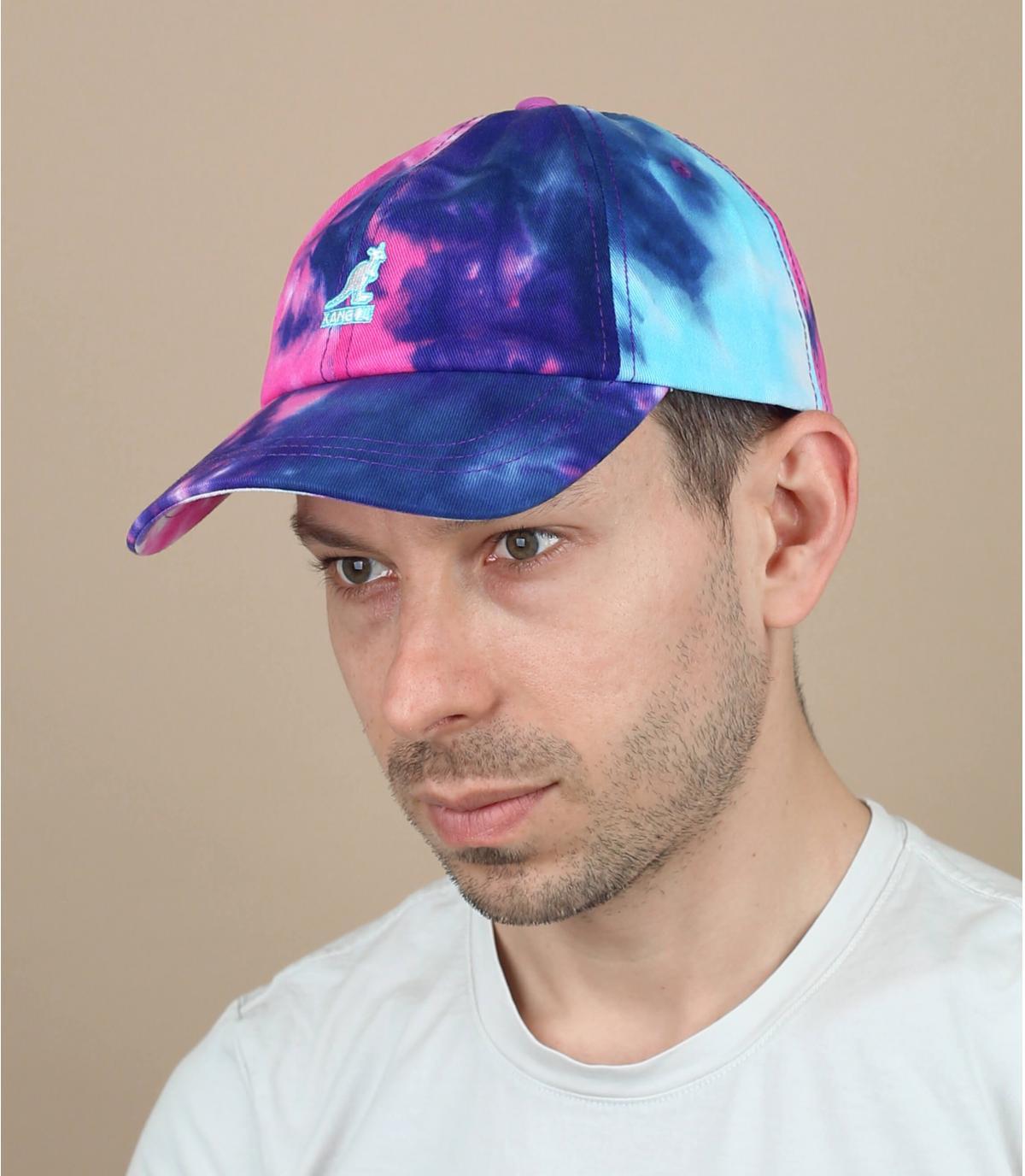 Gorra tie dye azul Kangol