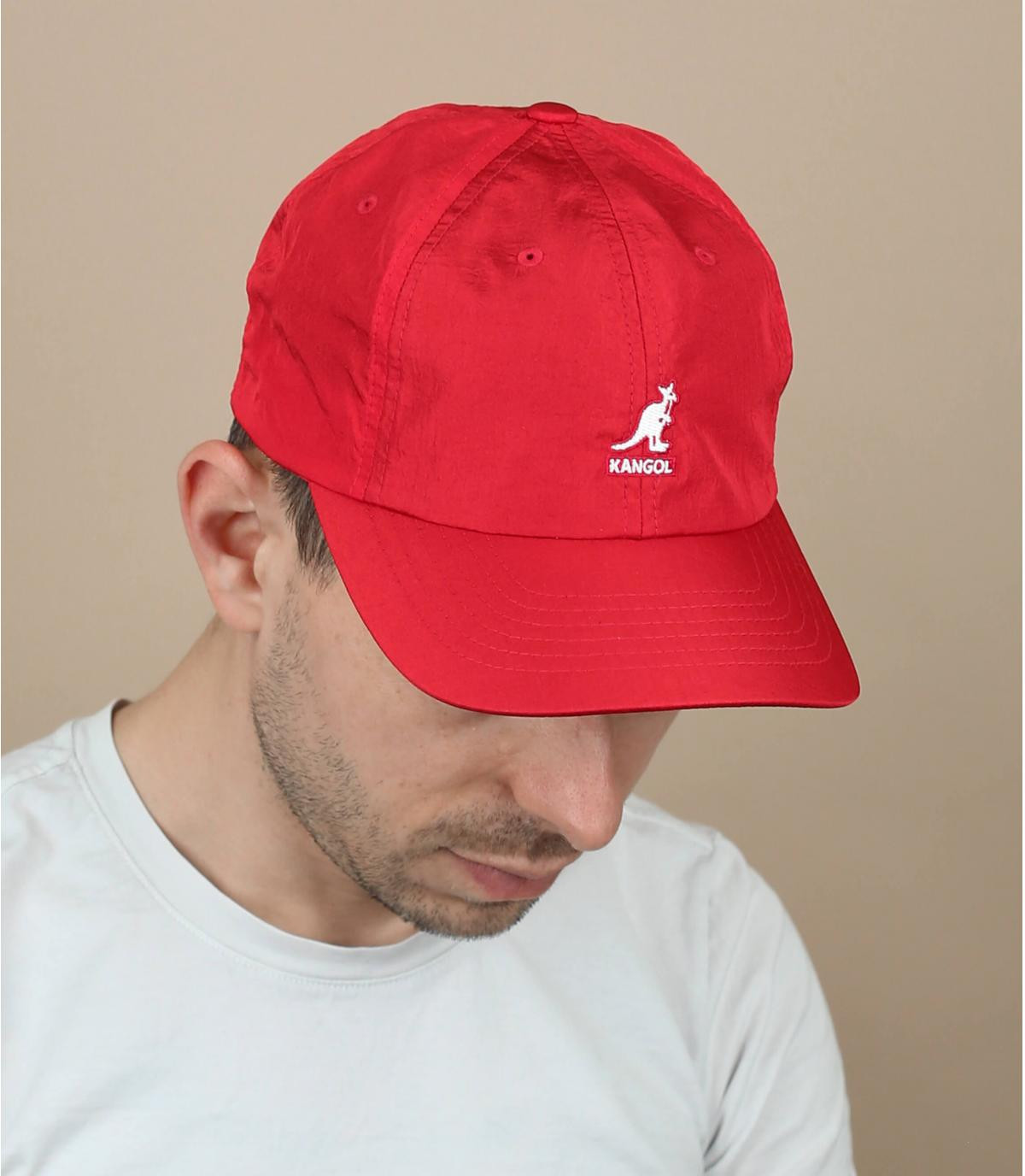 Gorra nailon rojo Kangol
