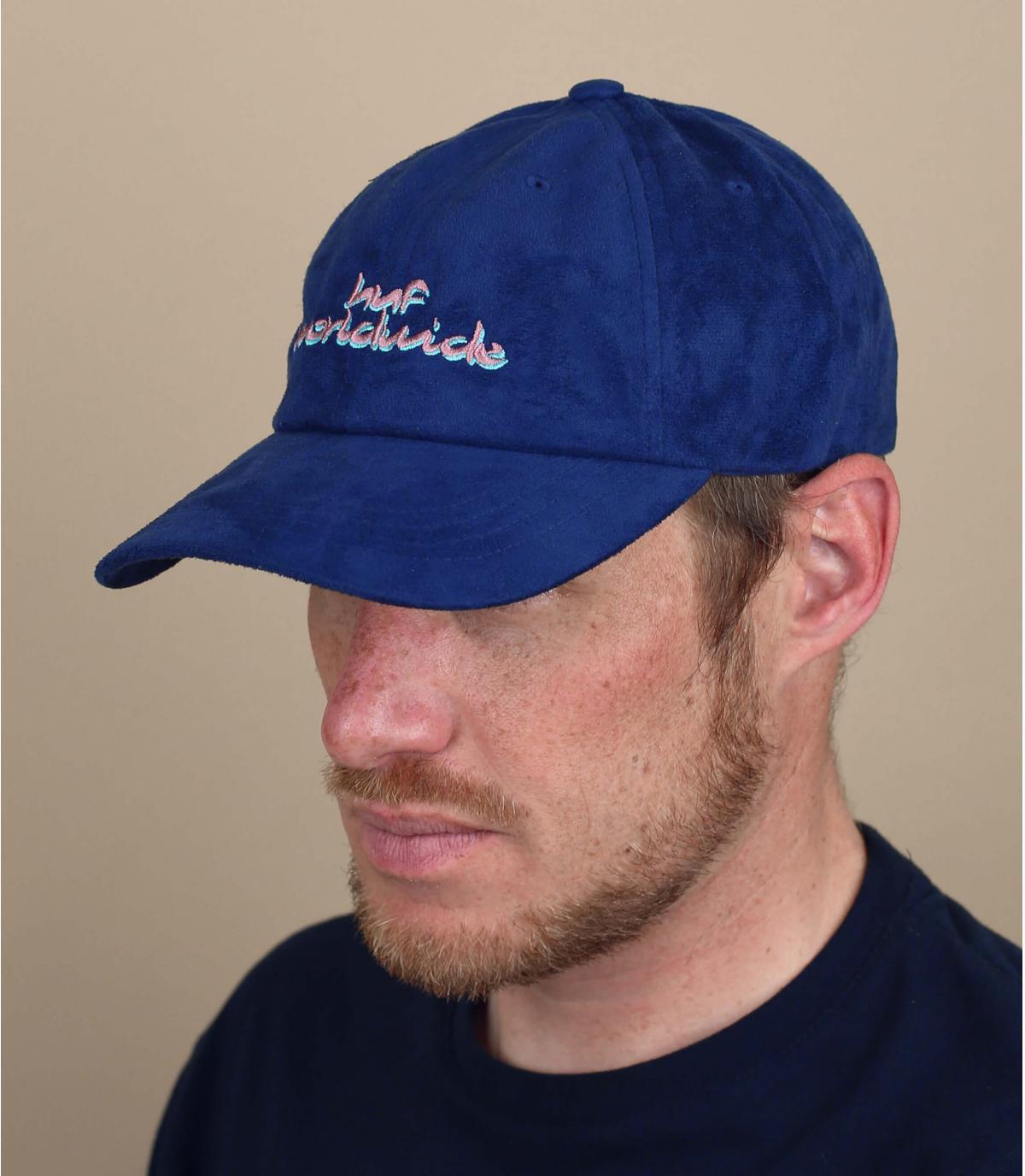 Gorra ante azul Huf