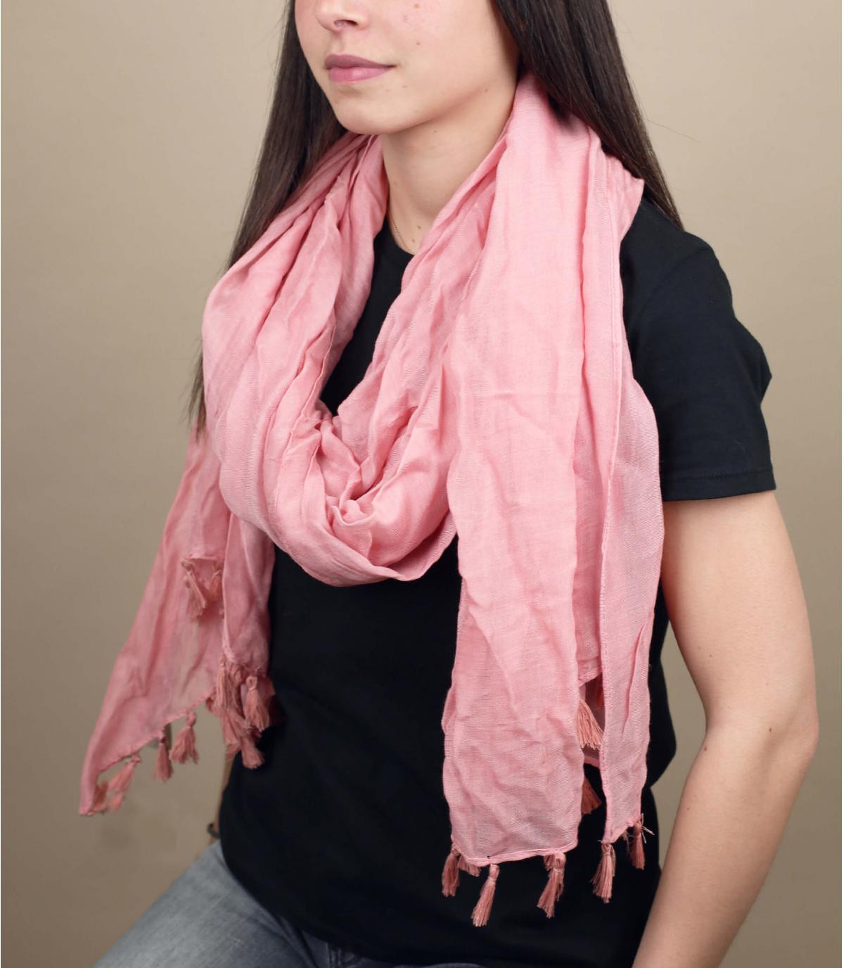 Pañuelo rosa viscosa