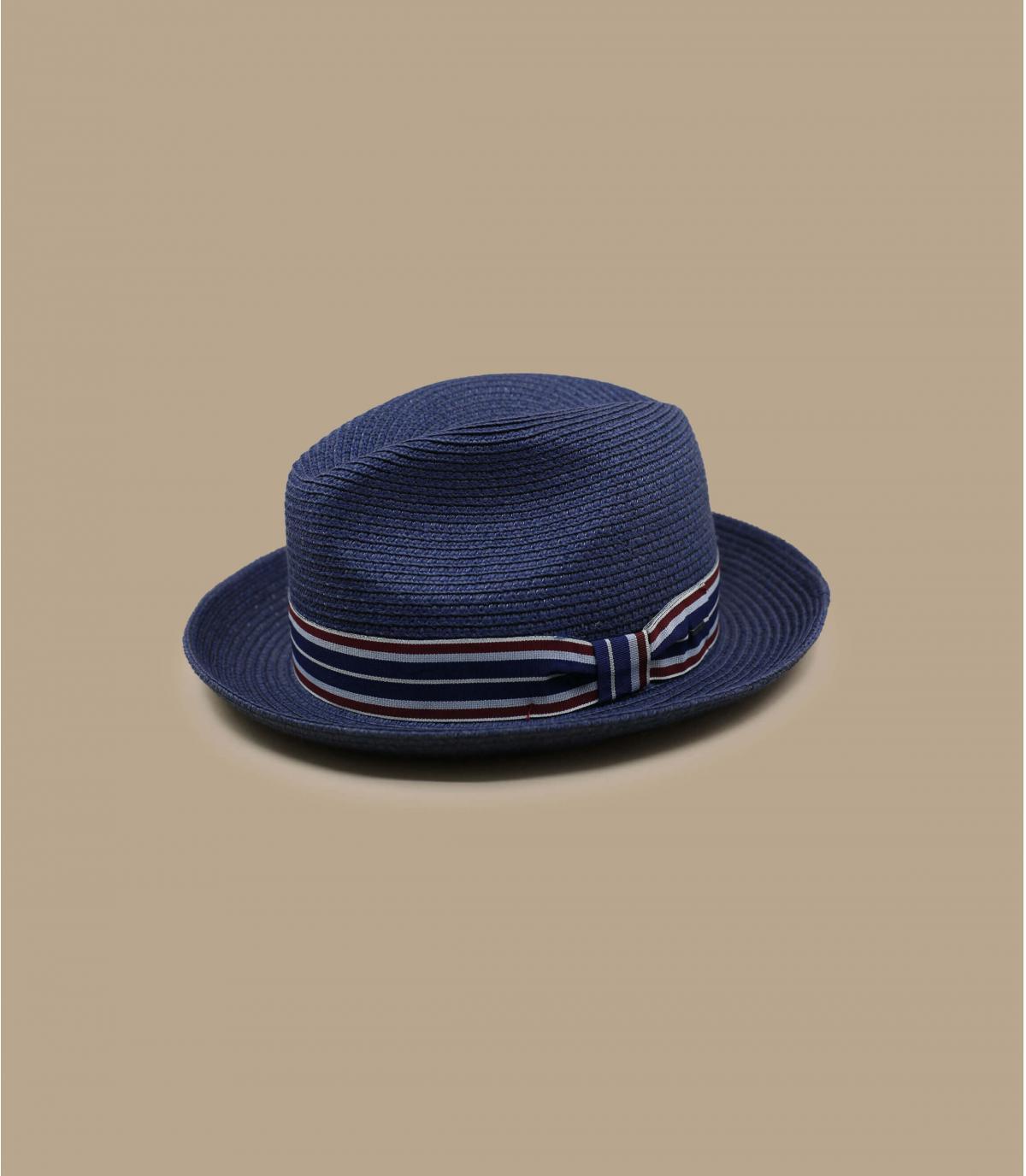 Sombrero paja azul marino Bailey