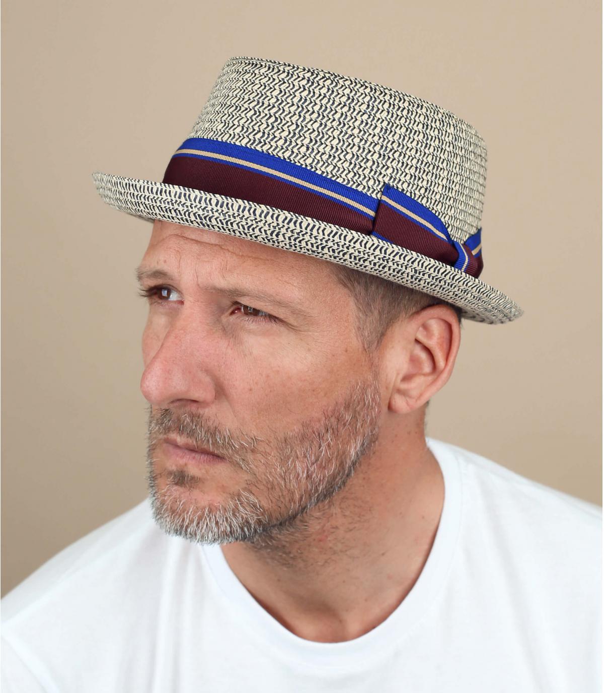 Sombrero paja azul