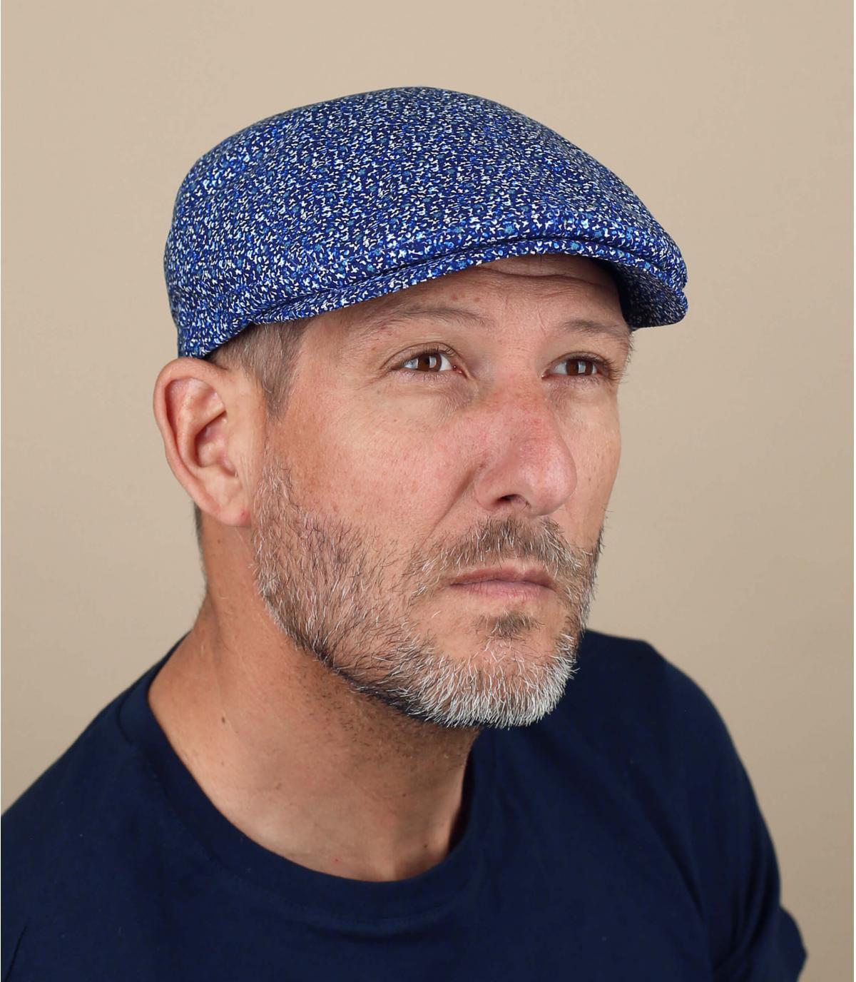 gorra azul jaspeado