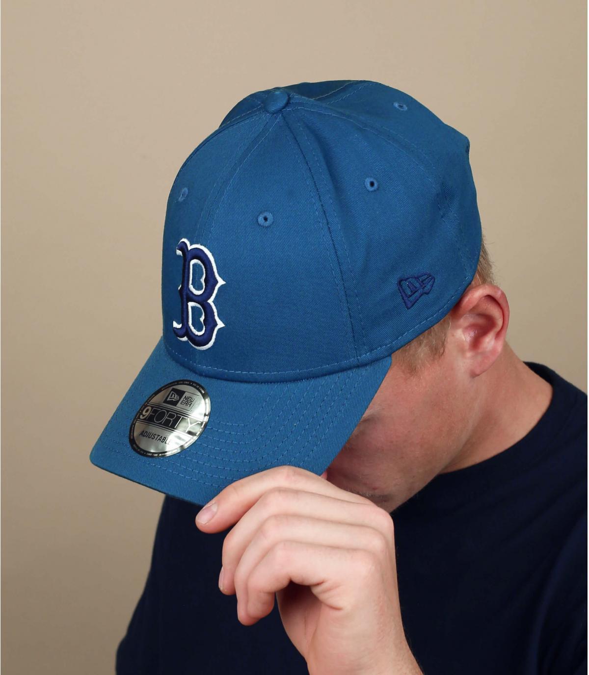 gorra B azul gris