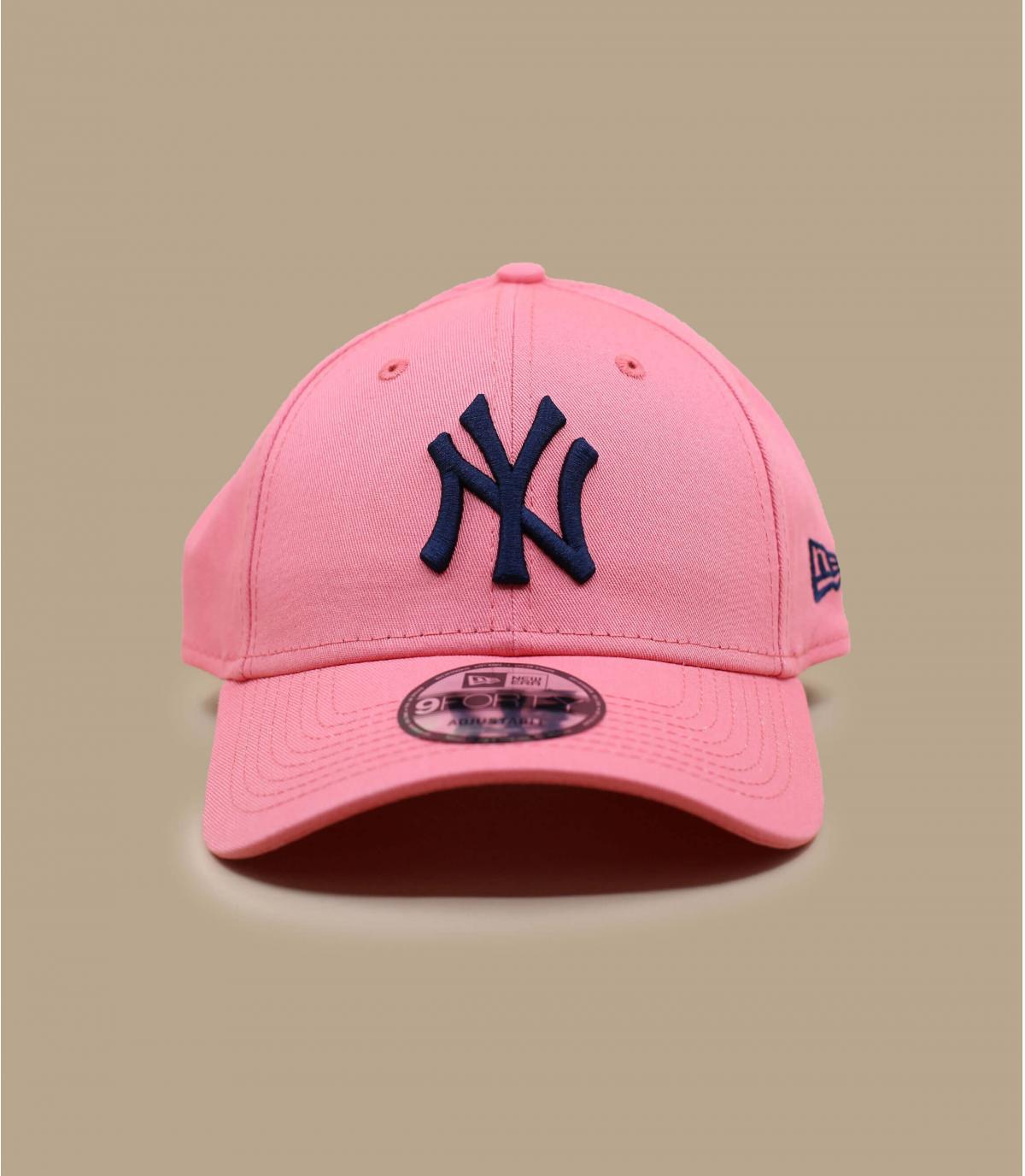 gorra NY rosa azul
