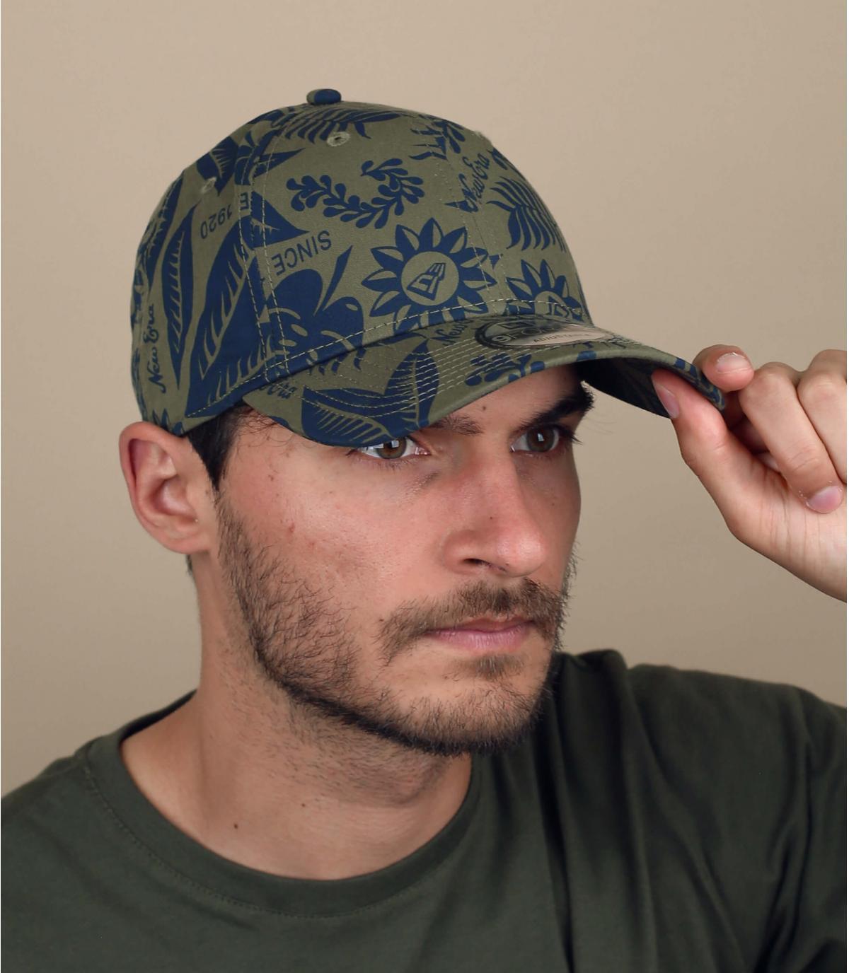 gorra estampado verde