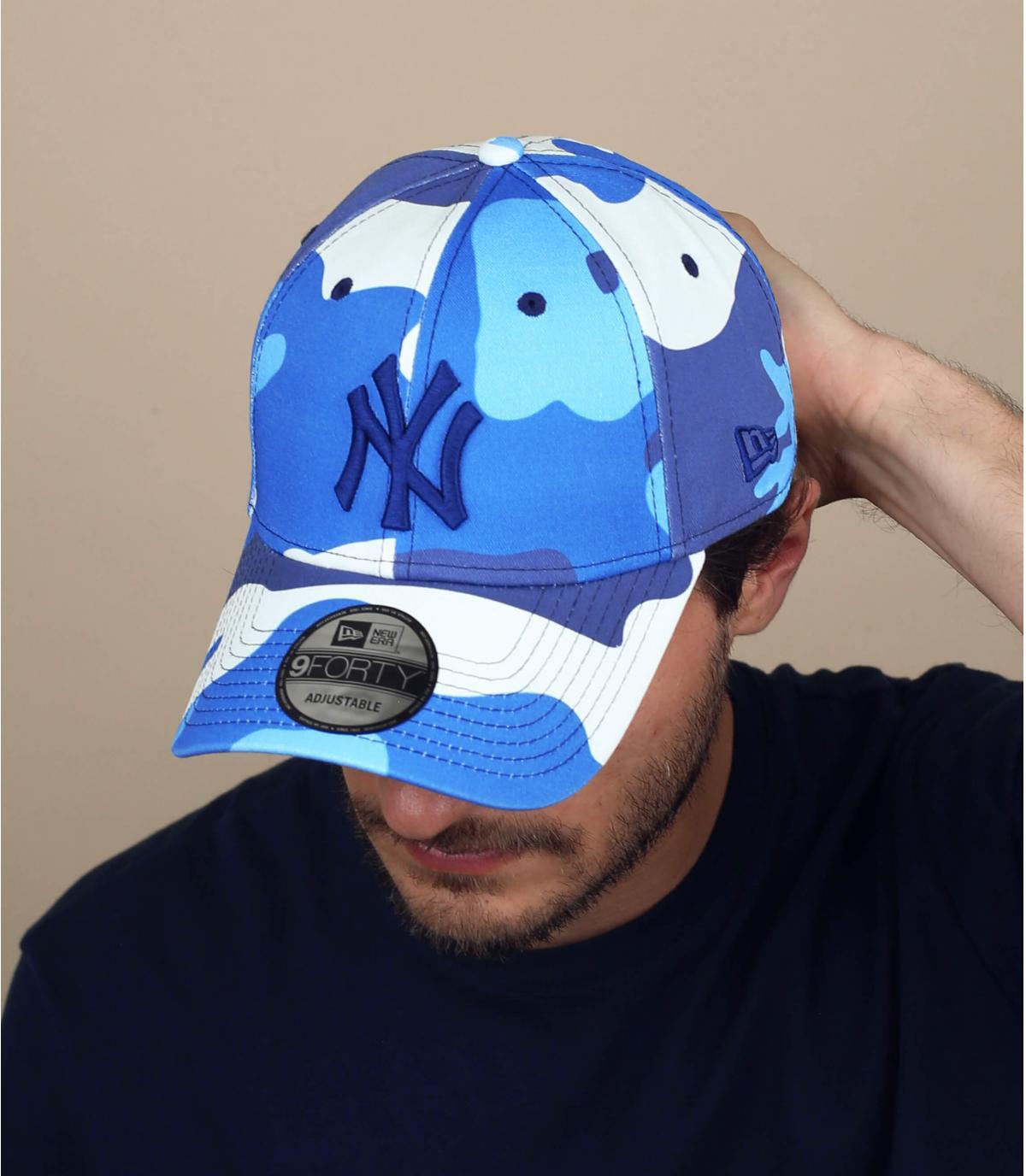 gorra NY camuflaje azul