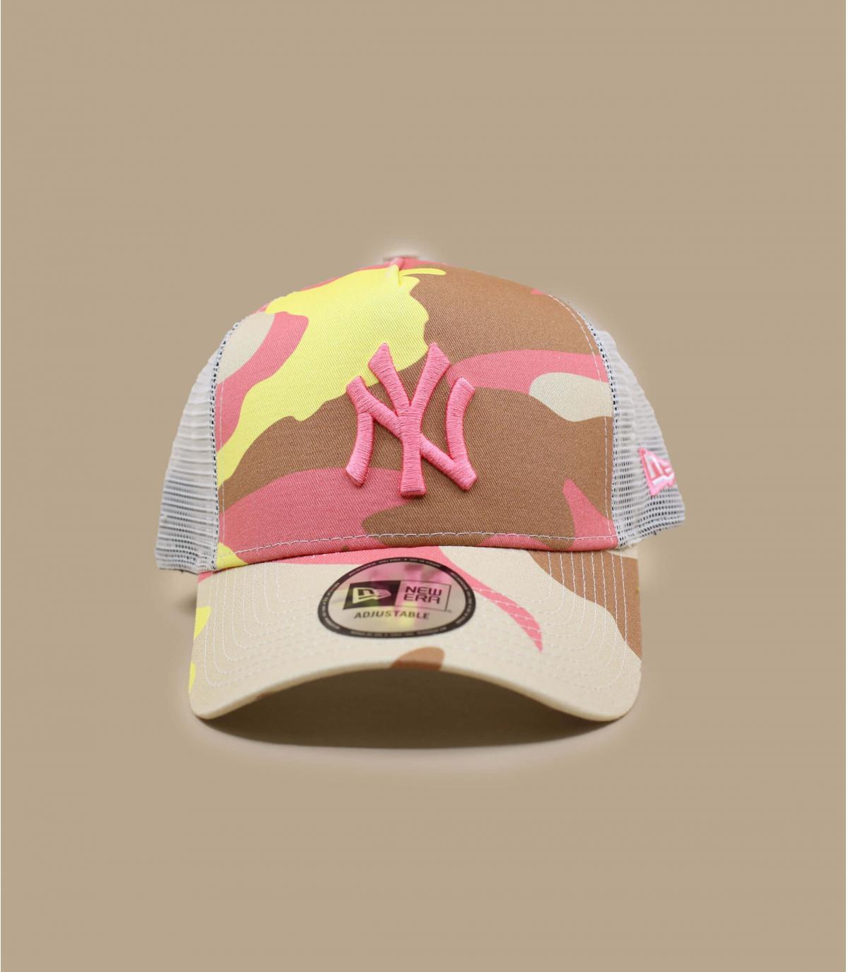 trucker NY beis rosa camuflaje