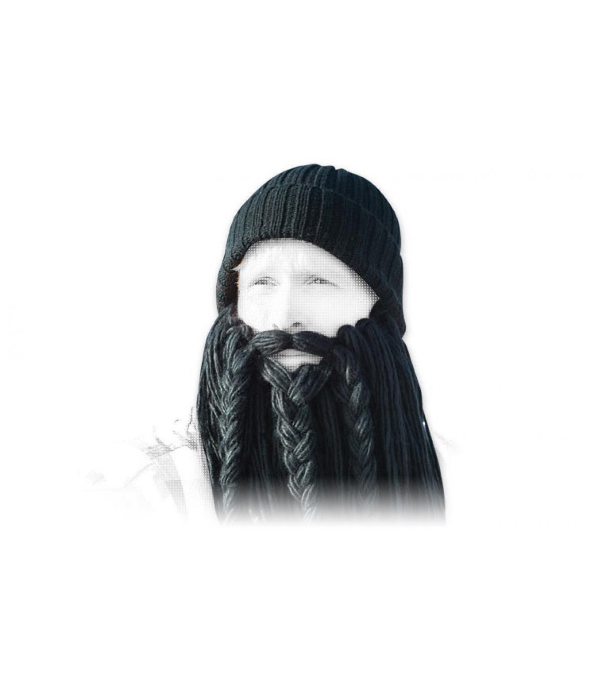 Gorro long negro beard viking