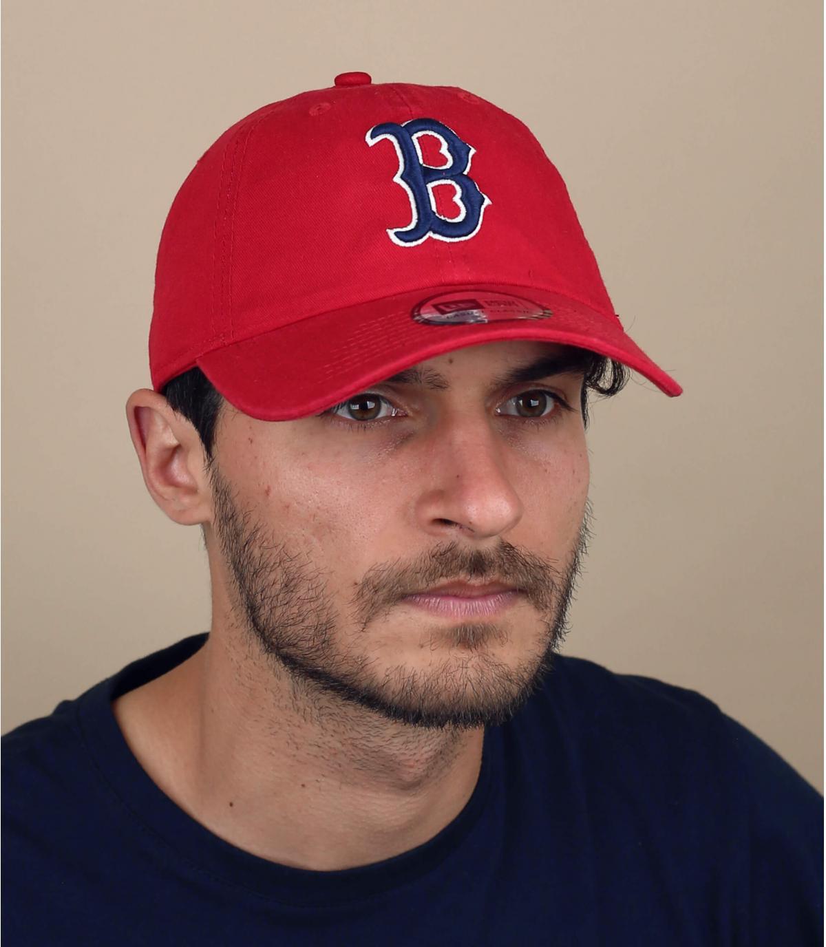 Gorra desestructurada B rojo