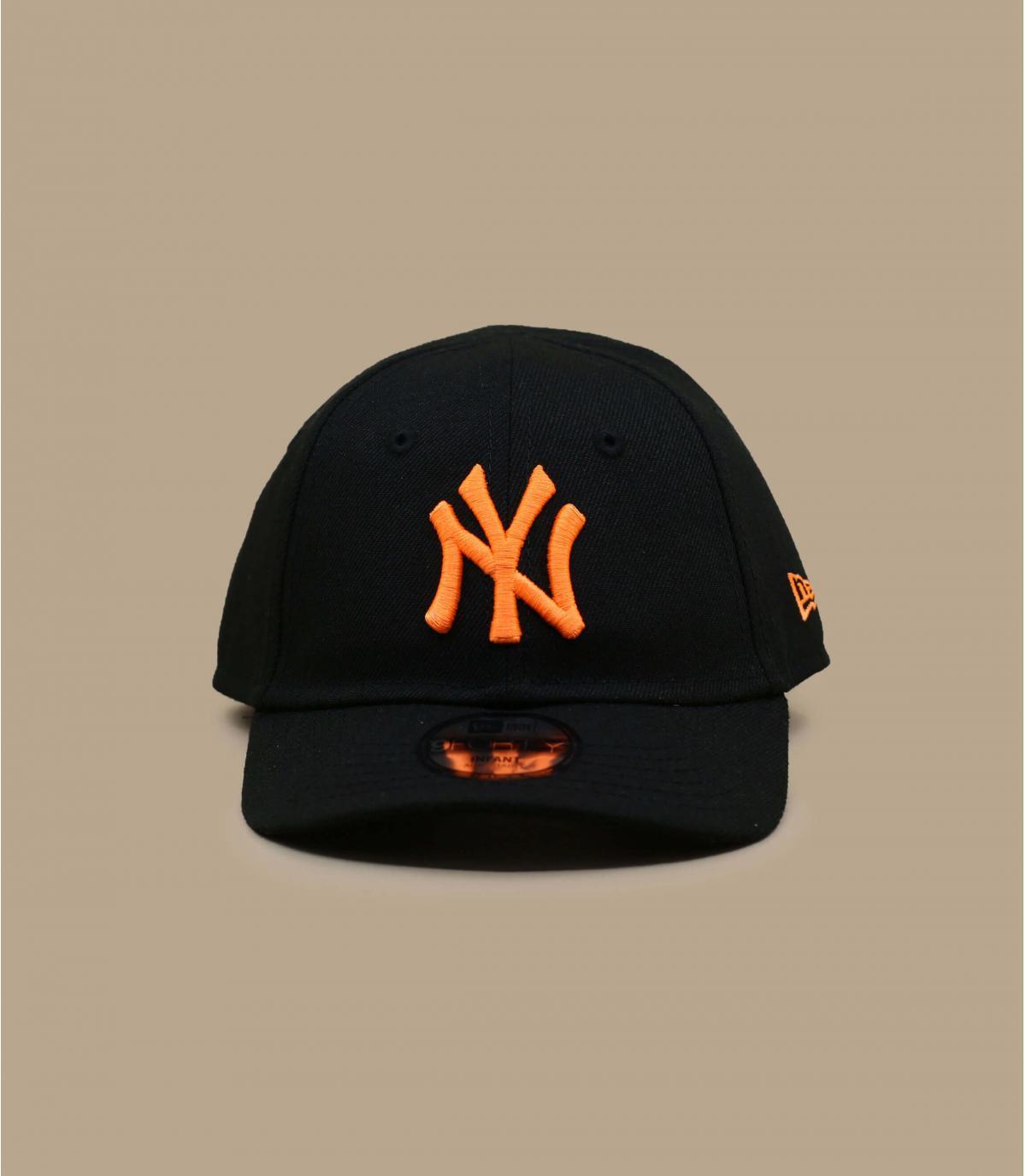 gorra bebe NY negro naranja