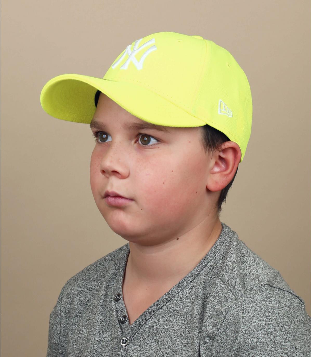 Gorra niño NY amarillo neón