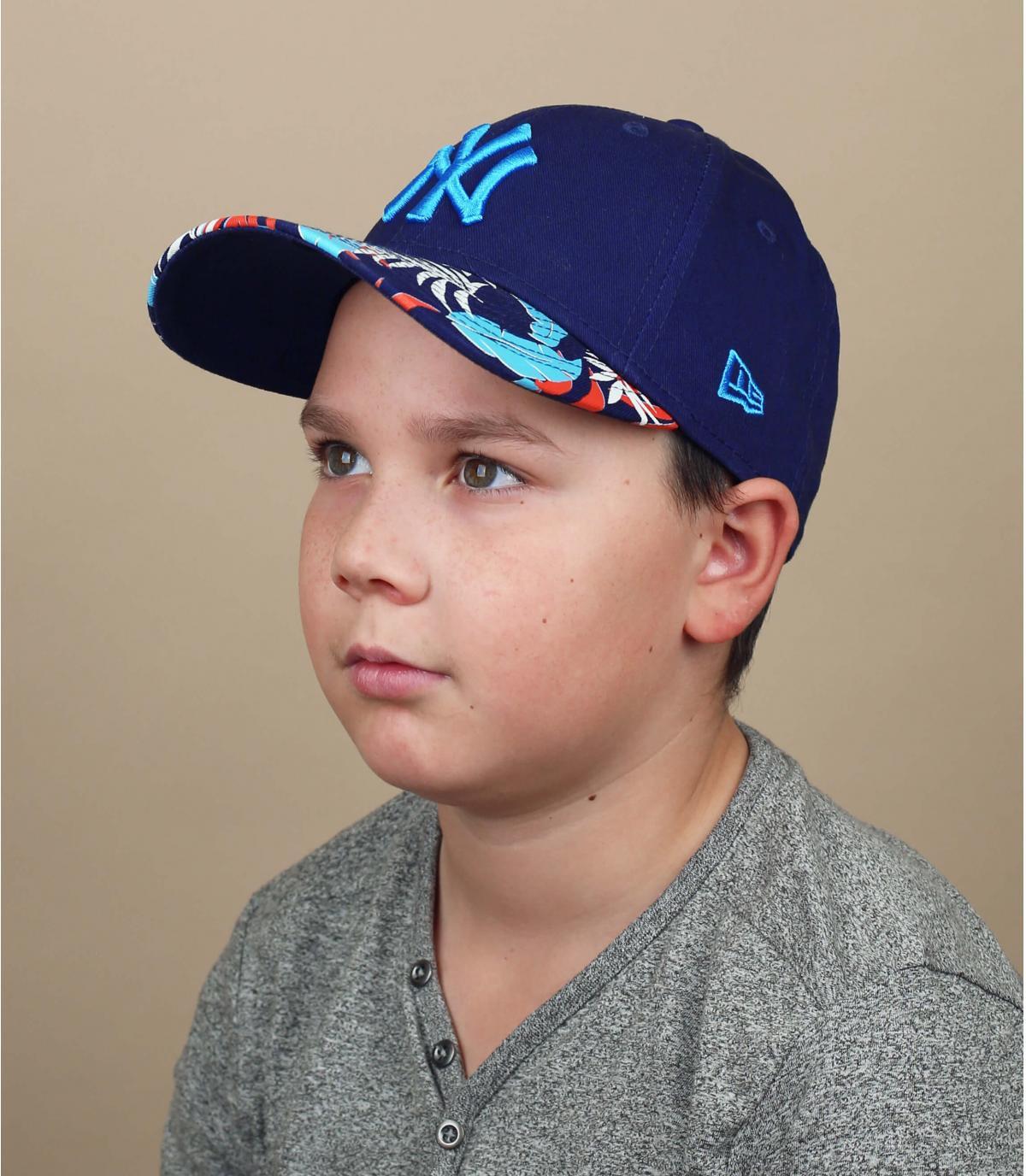 gorra infantil NY negro azul