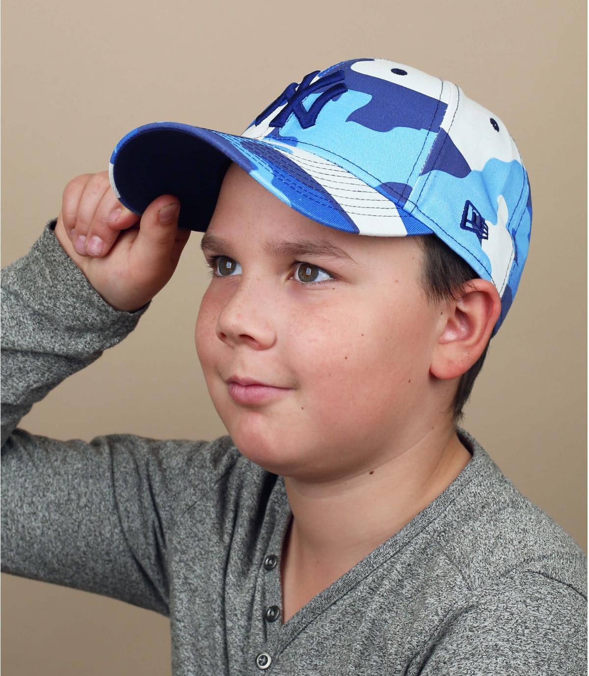 gorra niño camuflaje azul