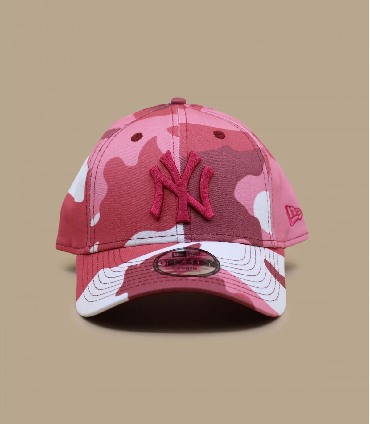 gorra niño camuflaje rosa