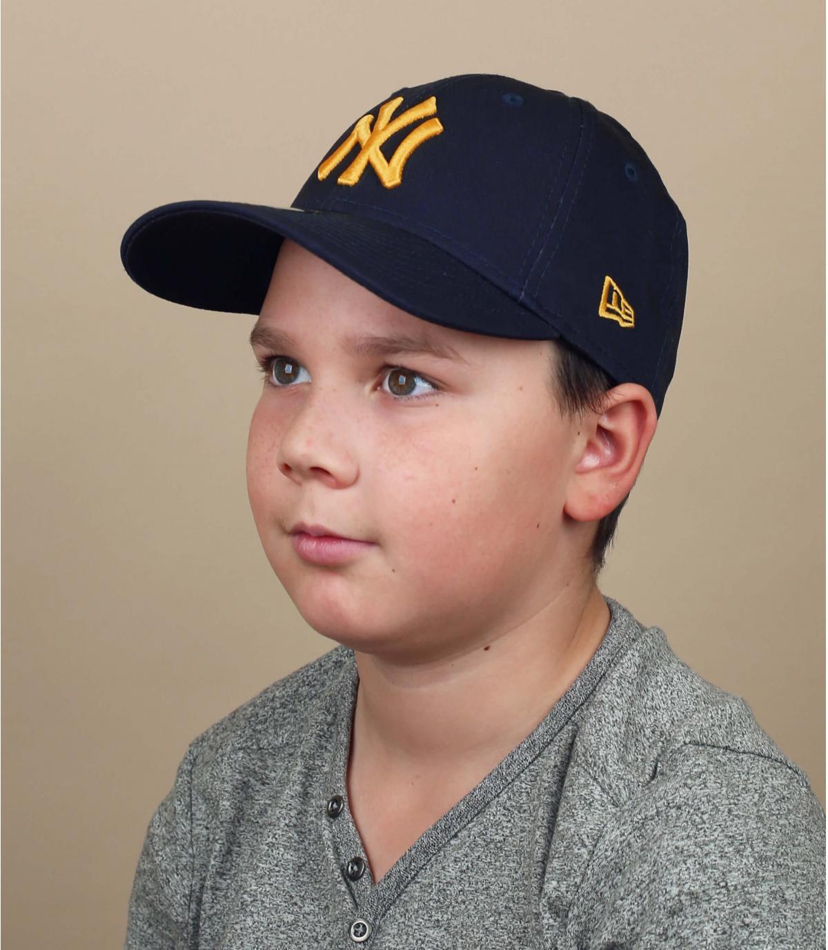 Gorra infantil NY azul marino