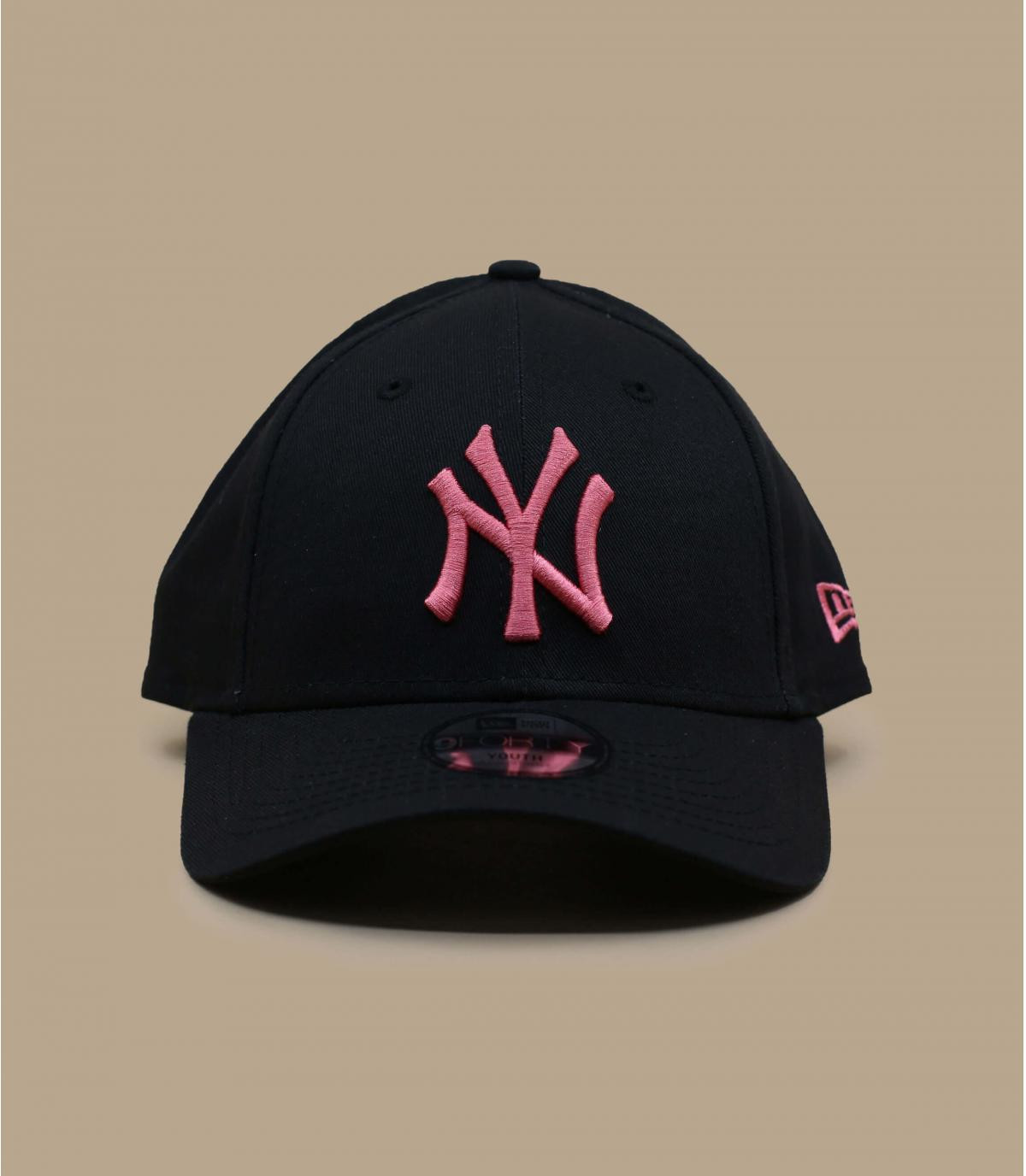 gorra niño negro rosa