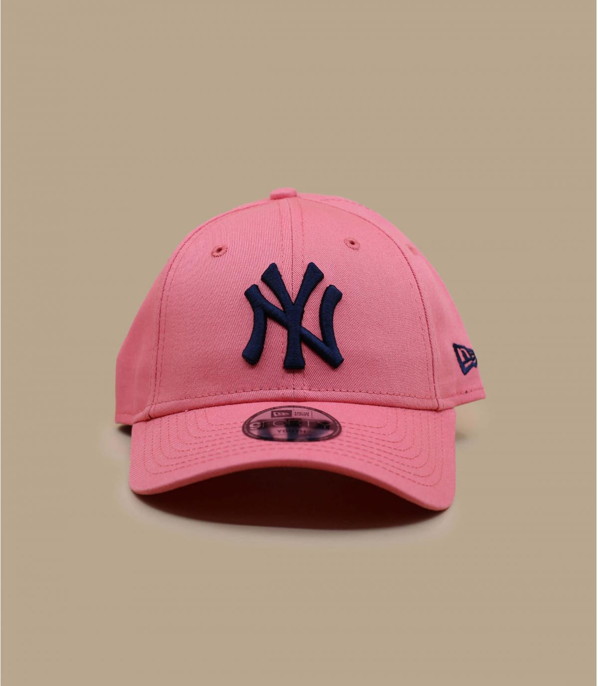 gorra NY niño rosa