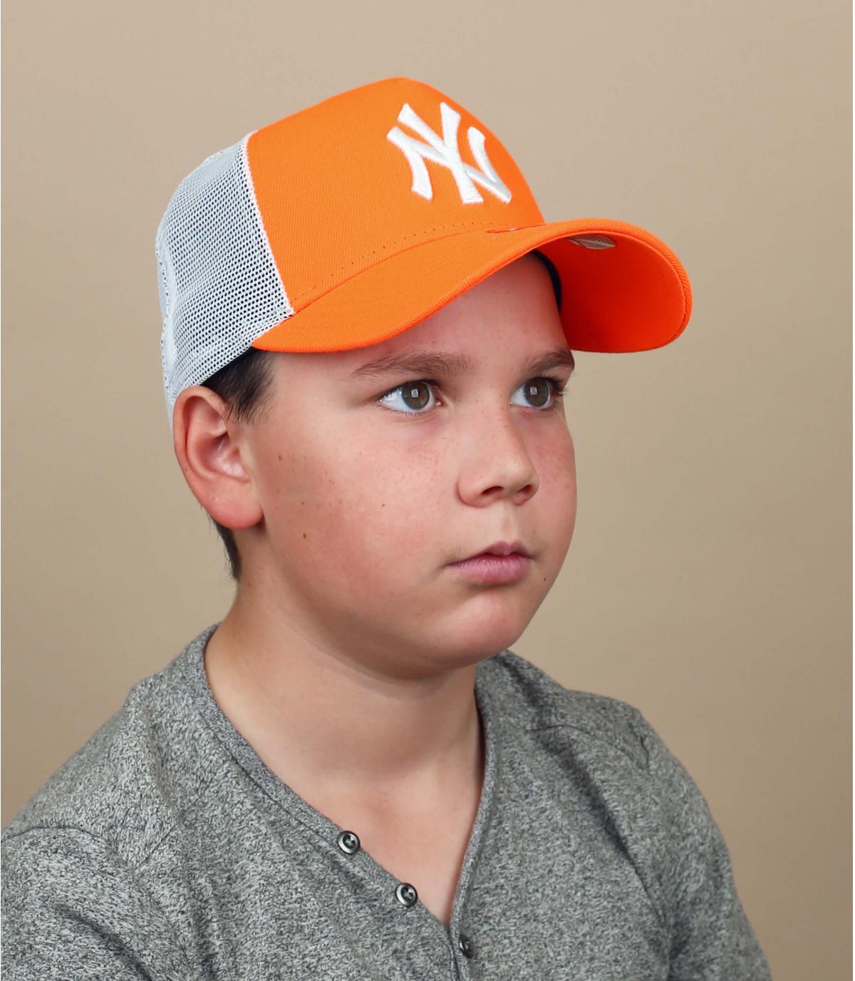 Trucker NY naranja niño