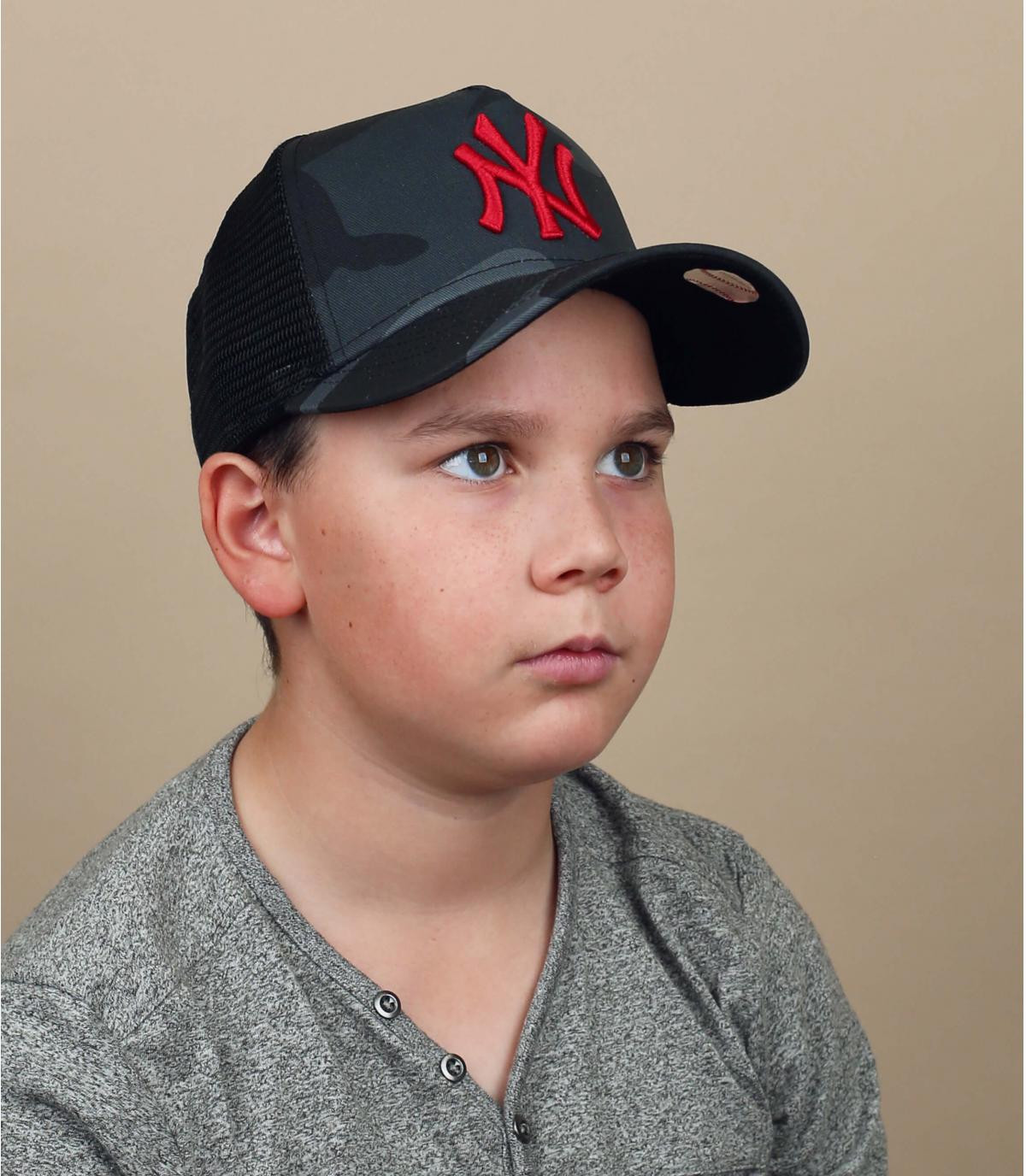 trucker NY niño camuflaje