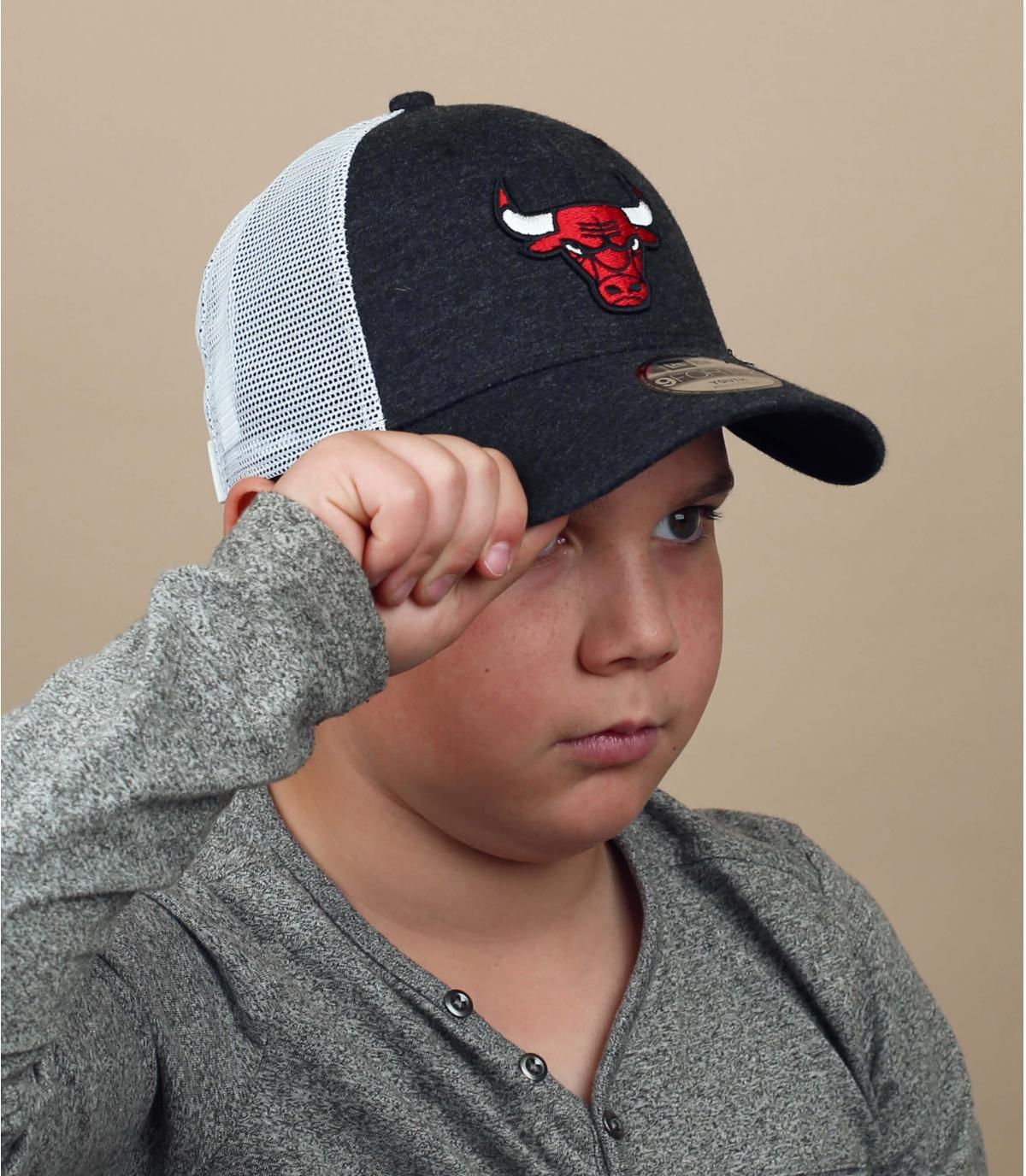 trucker niño Bulls rojo