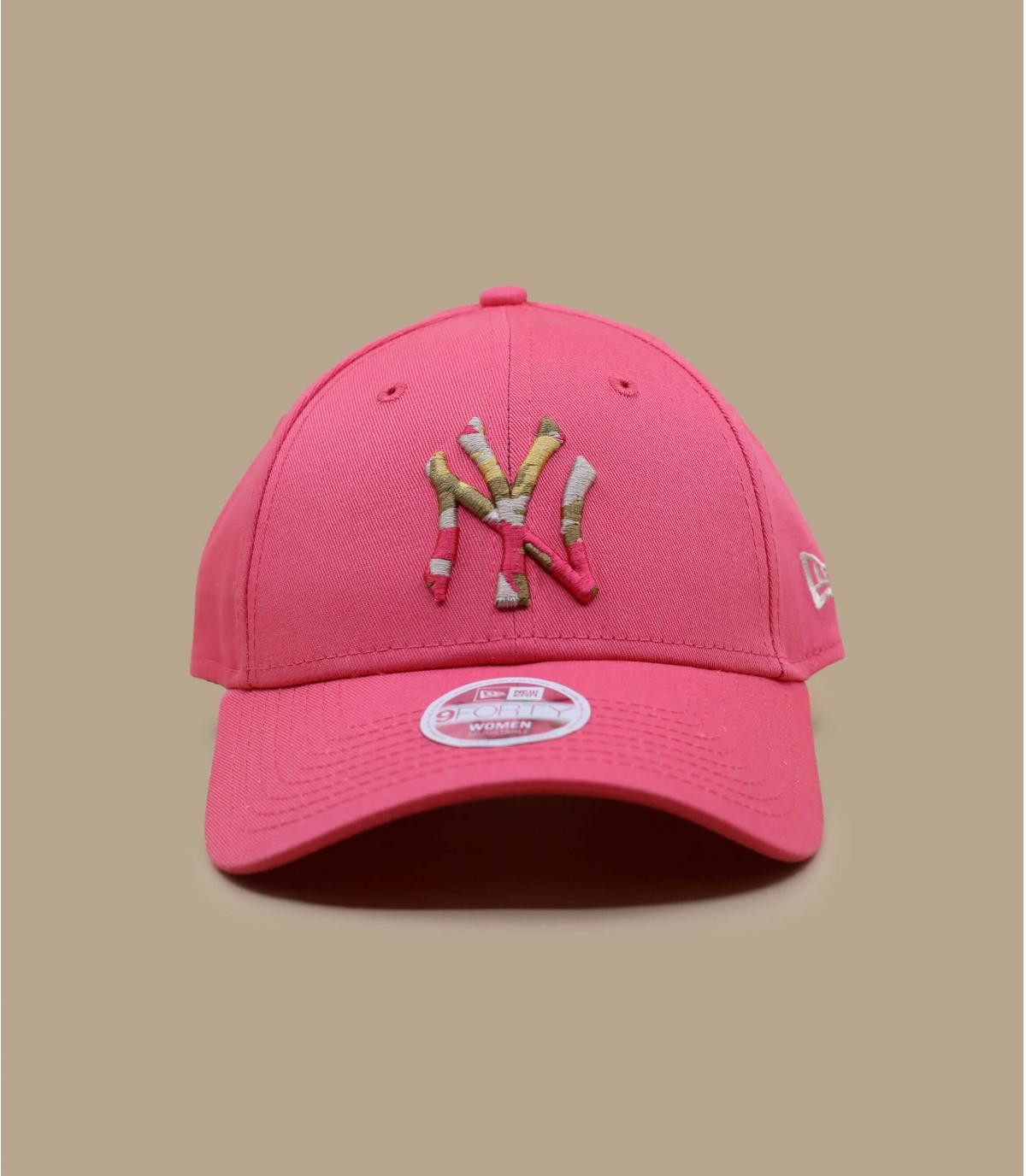 gorra NY rosa mujer