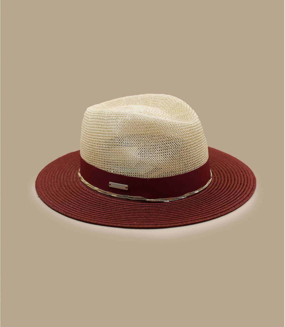 Sombrero paja cadena oro