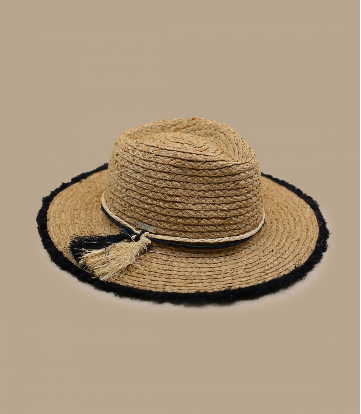 sombrero paja flecos