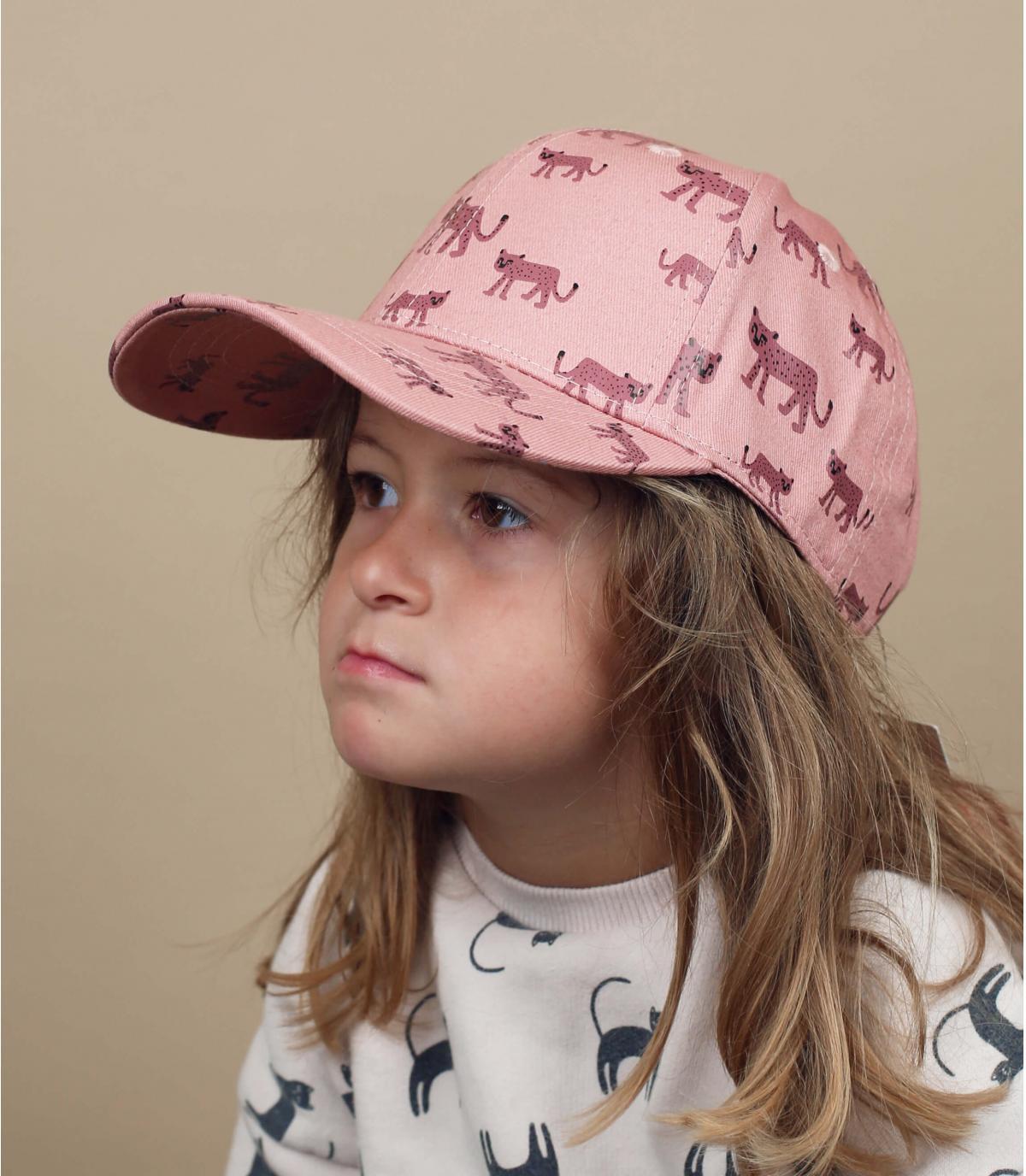 Gorra bebe leopardo rosa