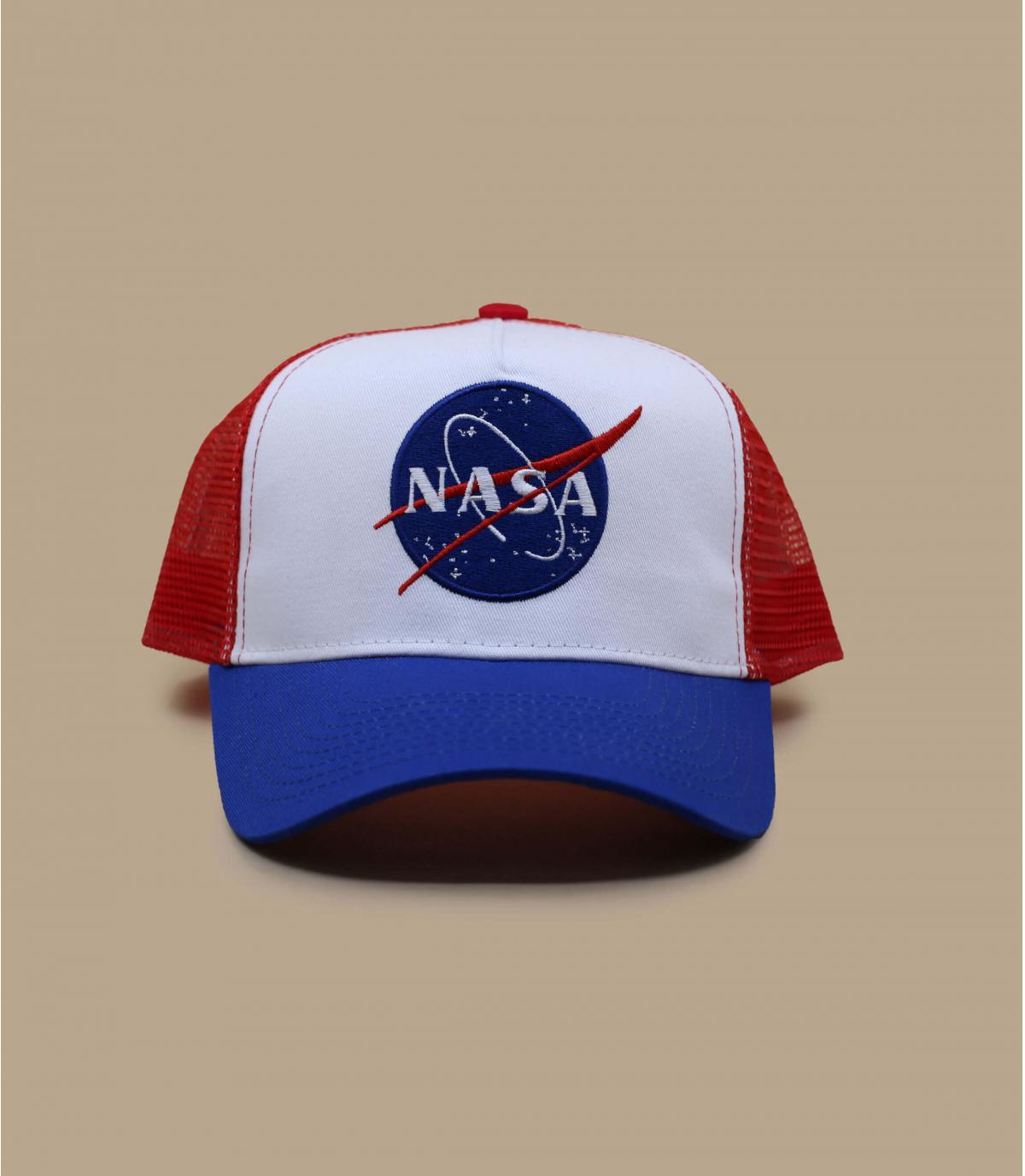 trucker NASA azul blanco rojo