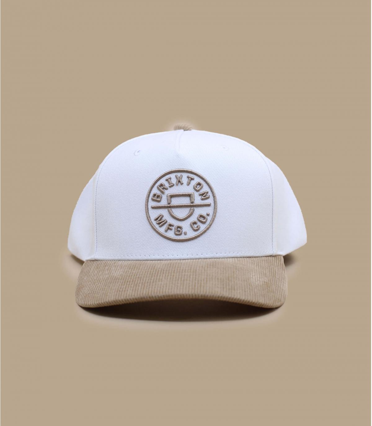 gorra blanca beis Brixton