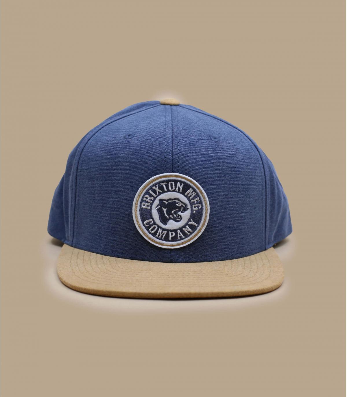 gorra Brixton azul beis