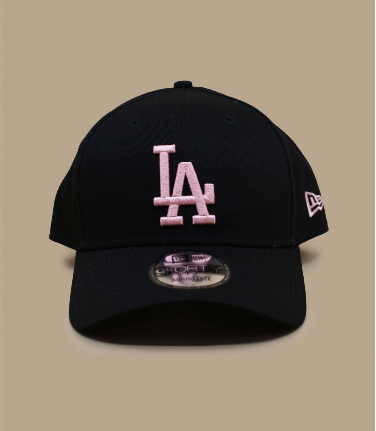 gorra LA negro rosa