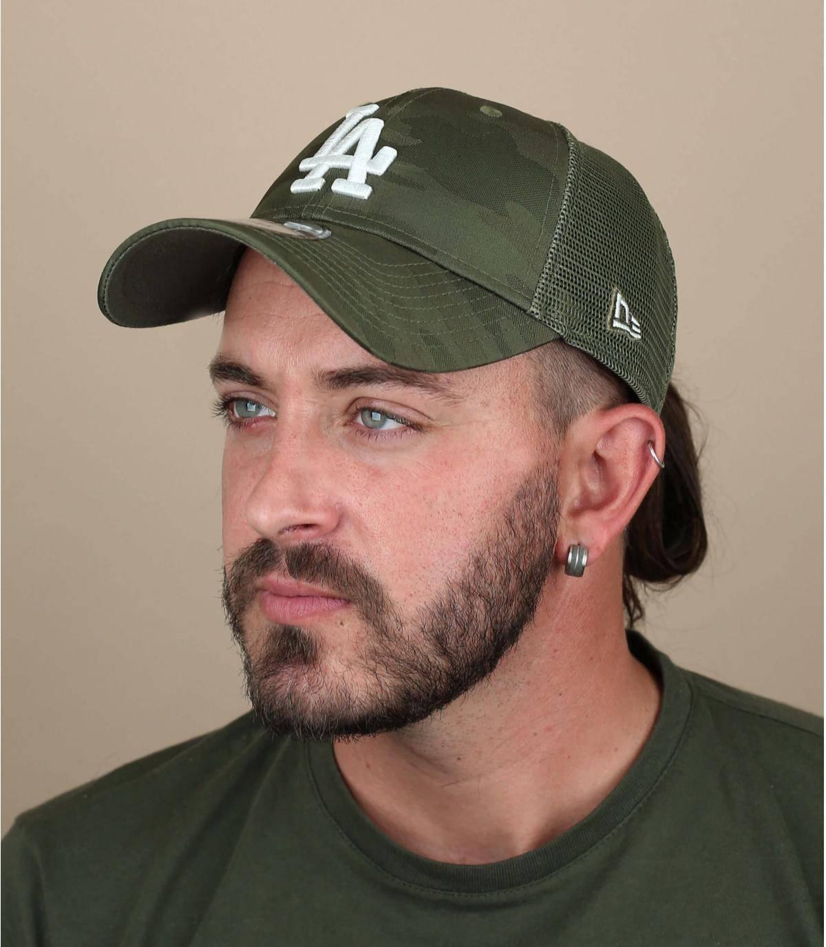 trucker LA camuflaje verde