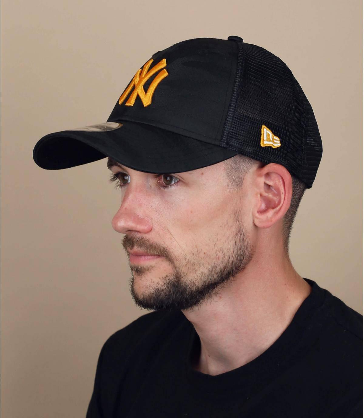 trucker NY camuflaje amarillo