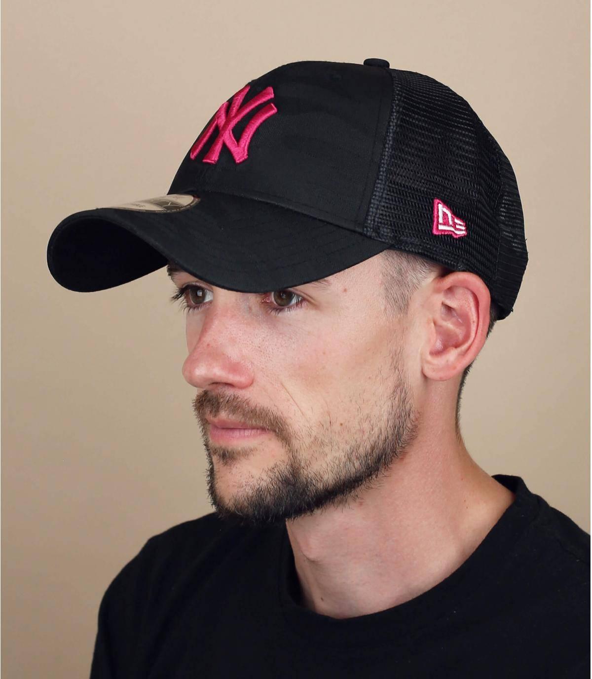 trucker NY camuflaje rosa