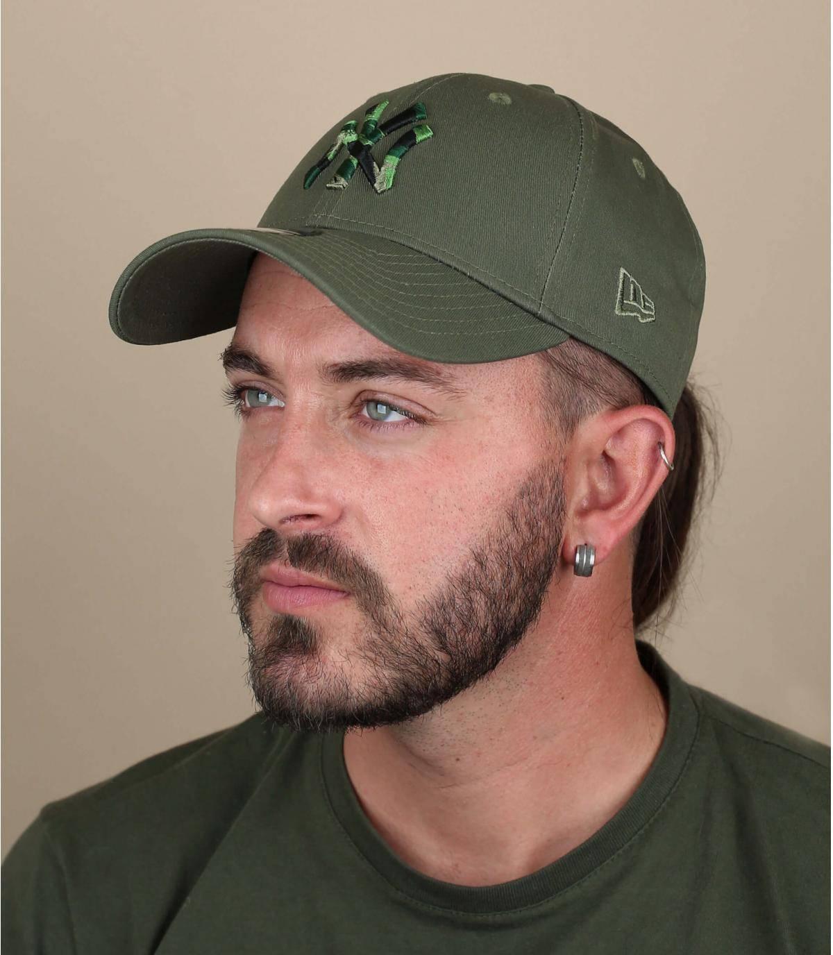 Gorra NY camuflaje verde