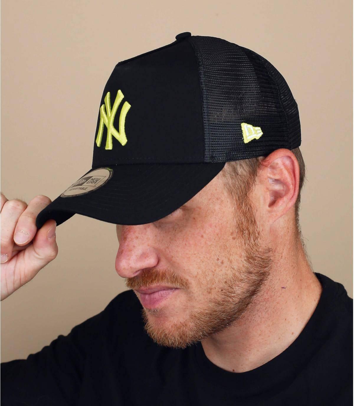 trucker NY negro amarillo