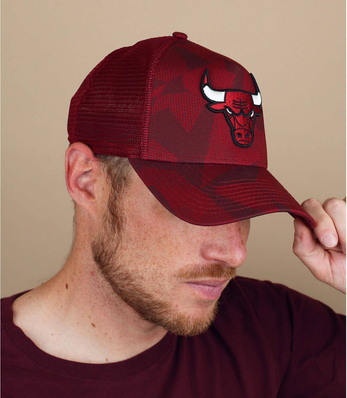 trucker Bulls rojo