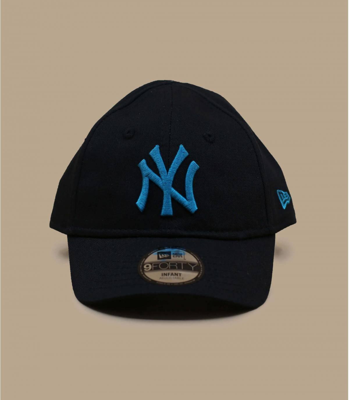 gorra bebé NY negro
